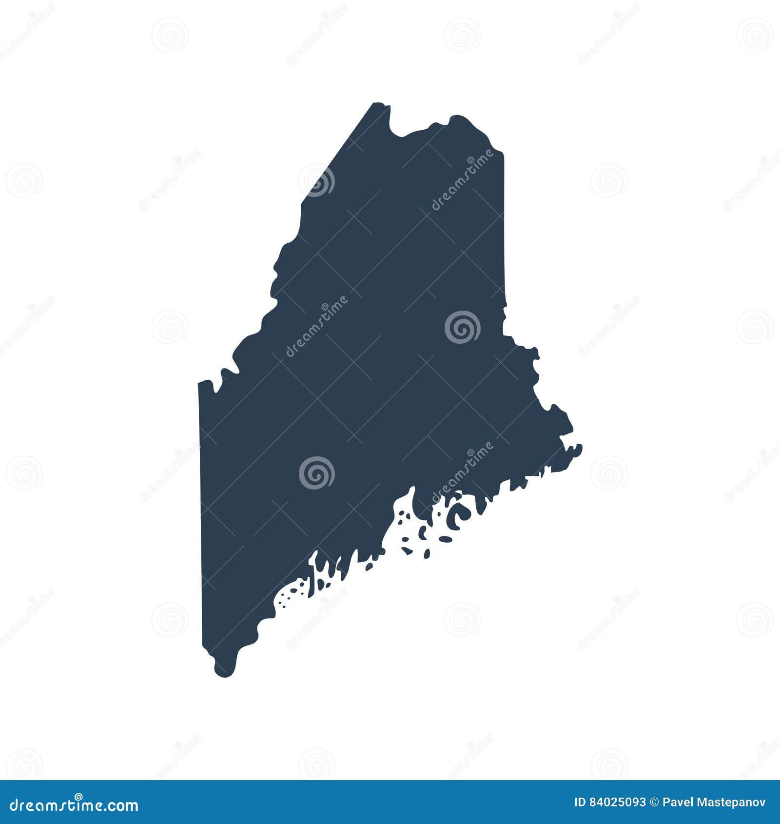 Översikt av Uen S statlig Maine vektor