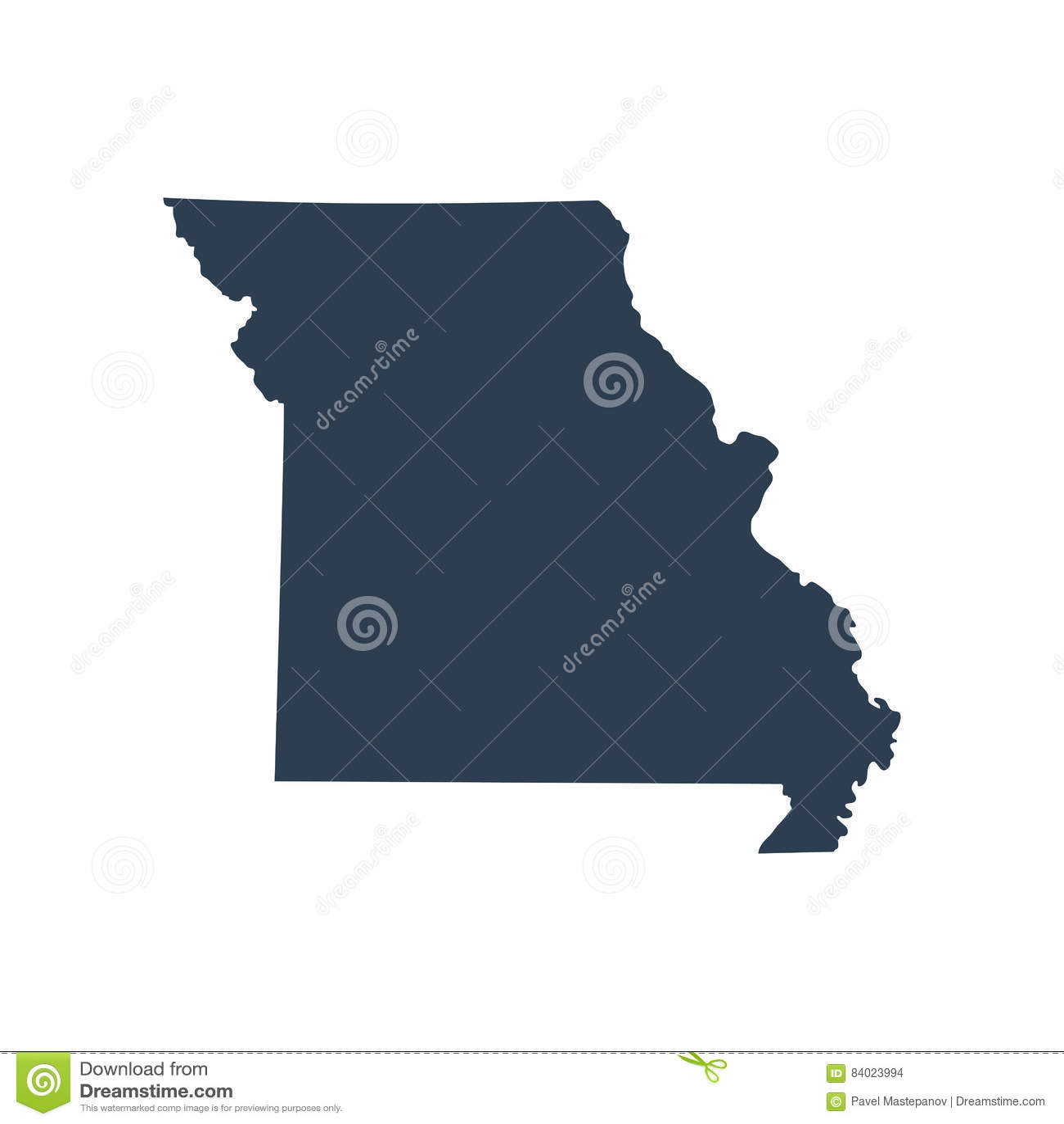 Översikt av Uen S statlig Missouri vektorillustration