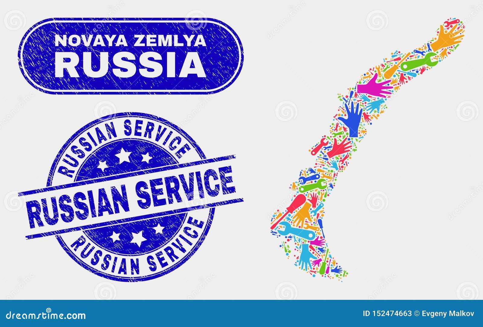 Översikt för enhetsNovaya Zemlya öar och att bedröva ryska serviceskyddsremsor