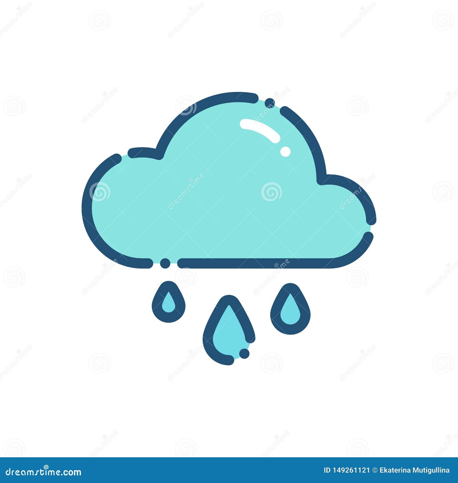 Översikt för symbol för väderhällregnregn