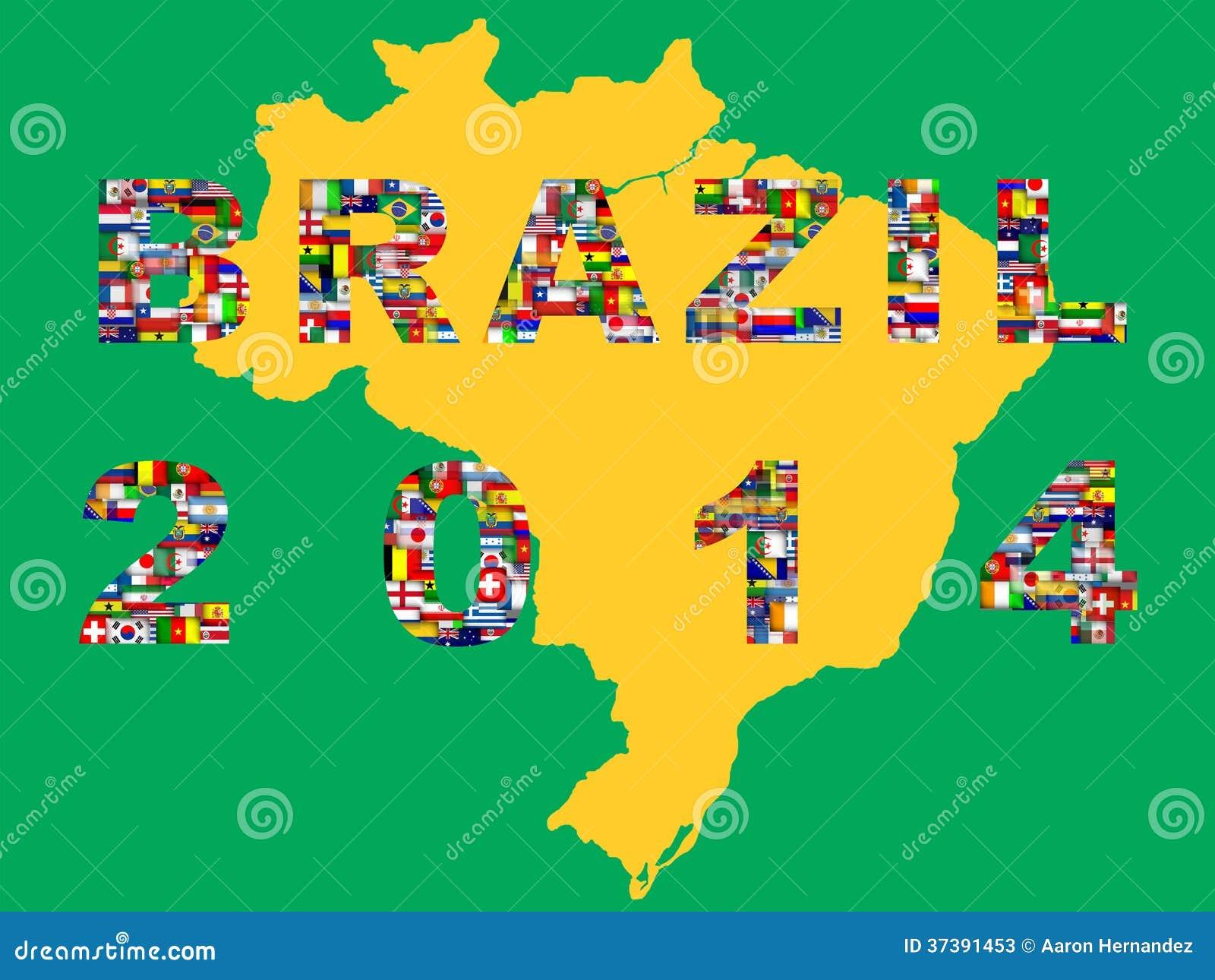 Översikt med kvalificerade nationer för turnering 2014.