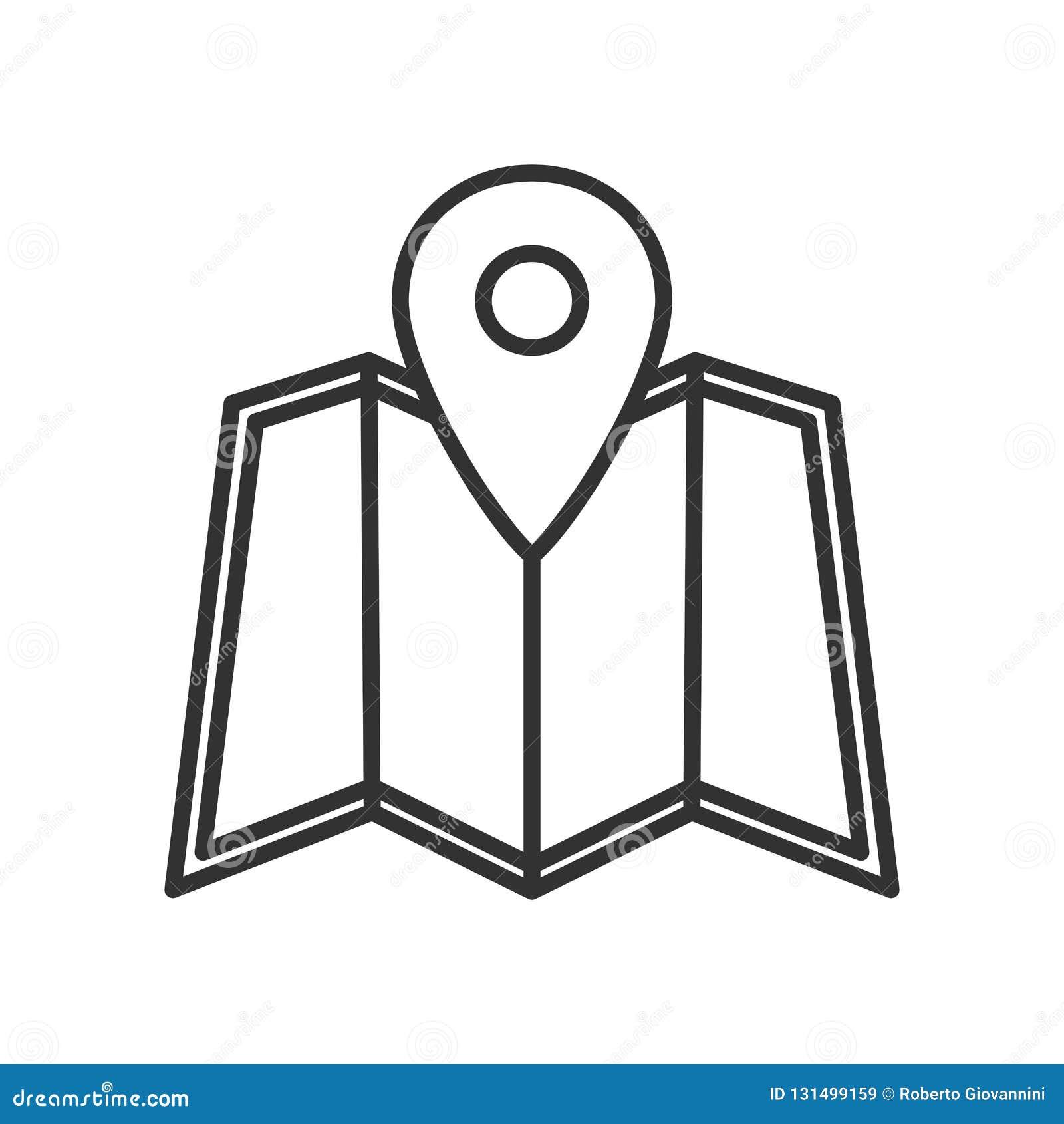 Översikt och plan symbol för lägemarköröversikt