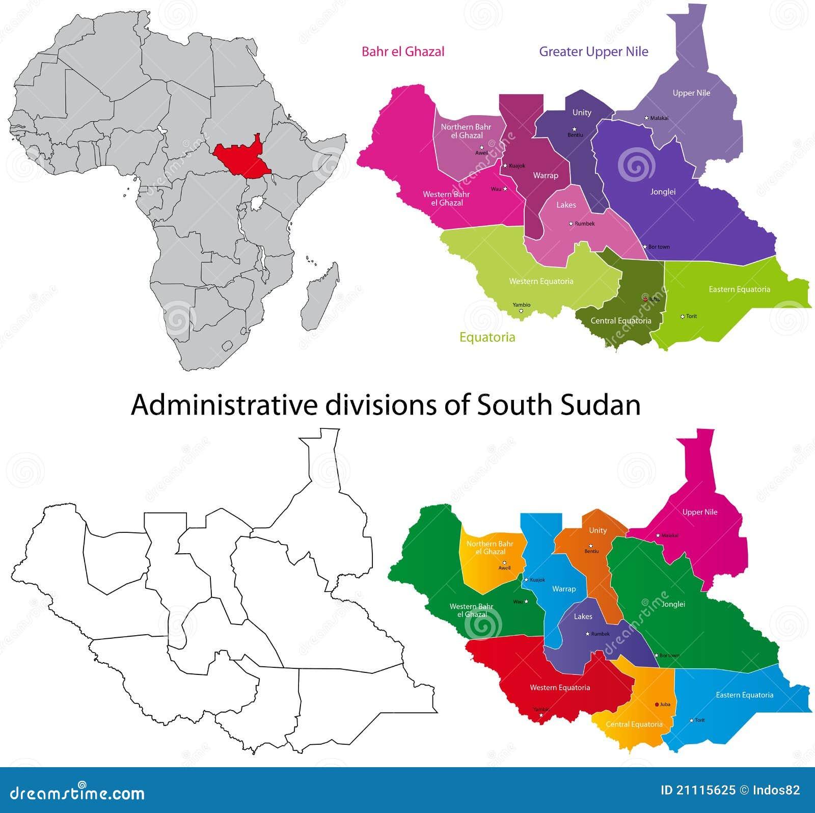 översikt södra sudan
