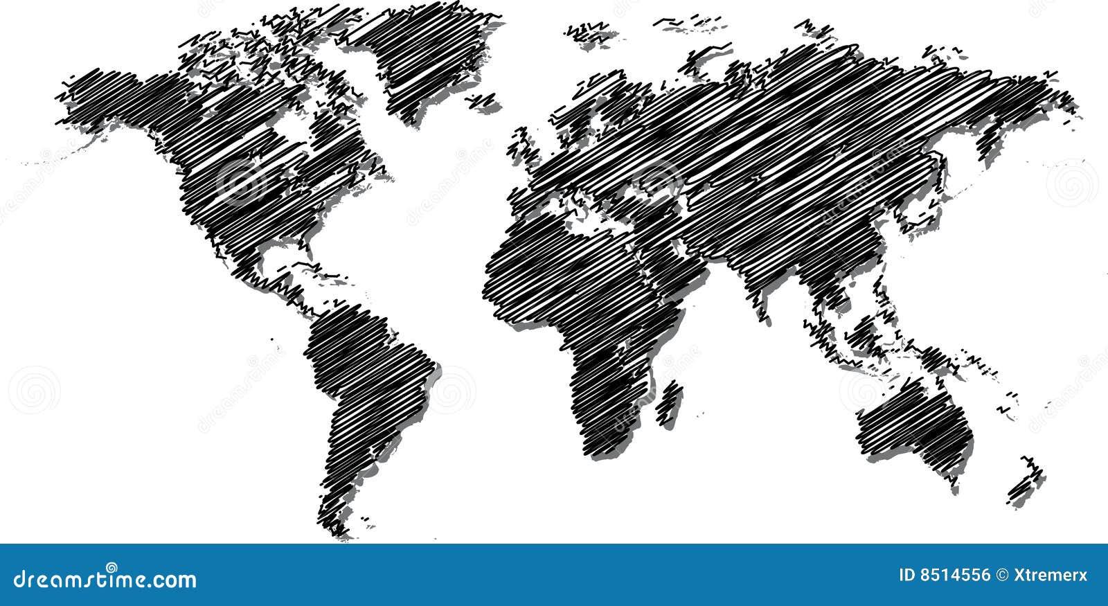 översikten klottrar världen