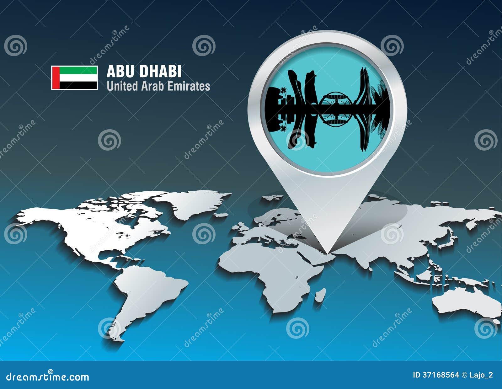 Översiktsstift med Abu Dhabi horisont