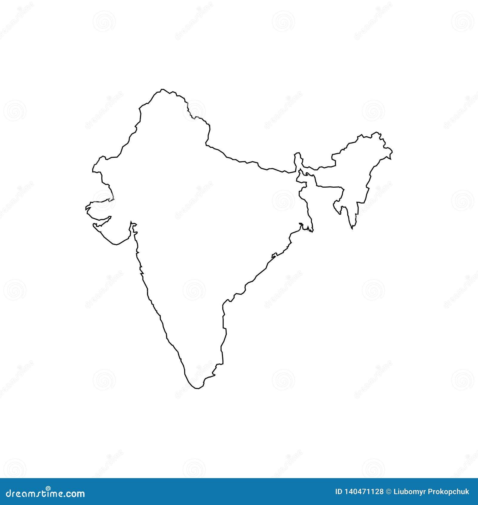 Översiktssvartöversikt Indien