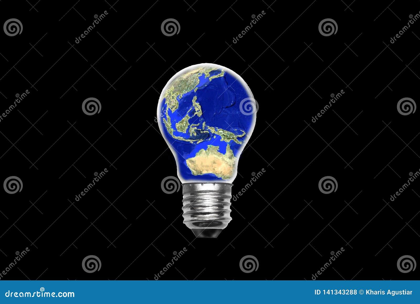 Översiktsvärld för ljus kula