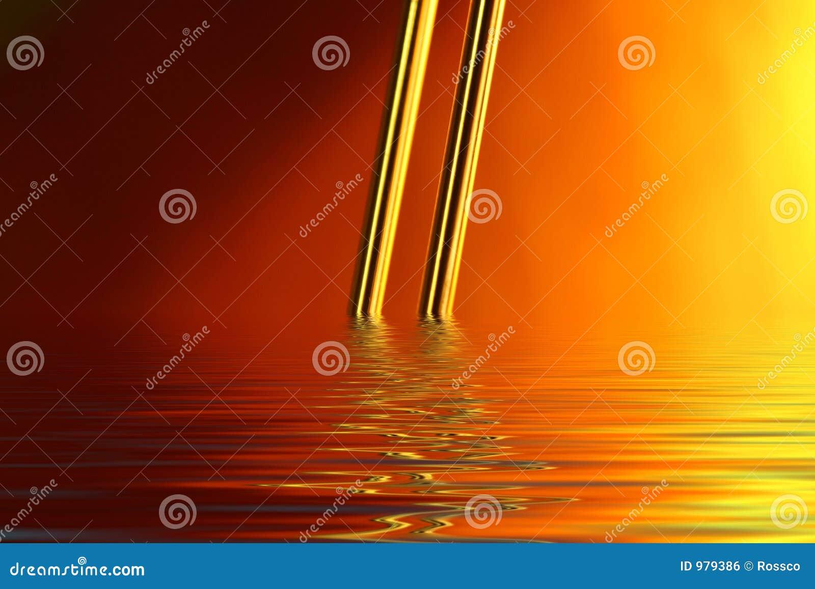 översvämmad guldtråd
