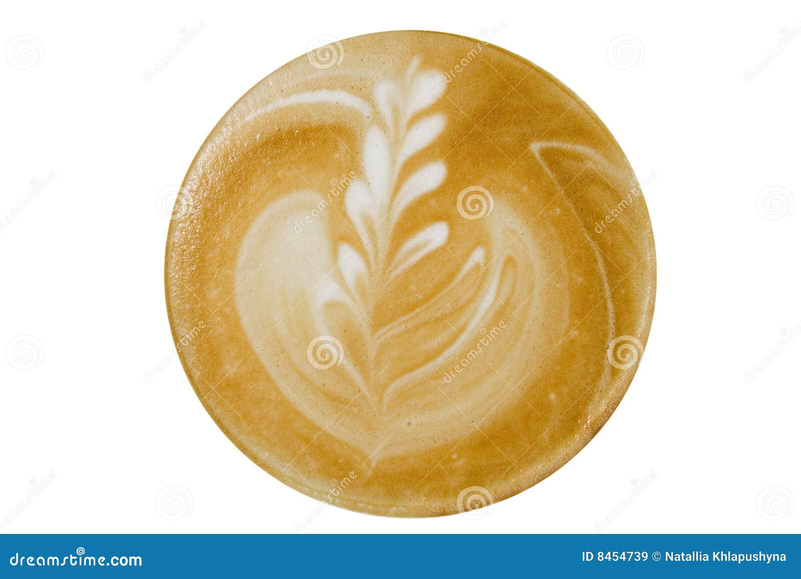 övre sikt för cappuccinokaffe