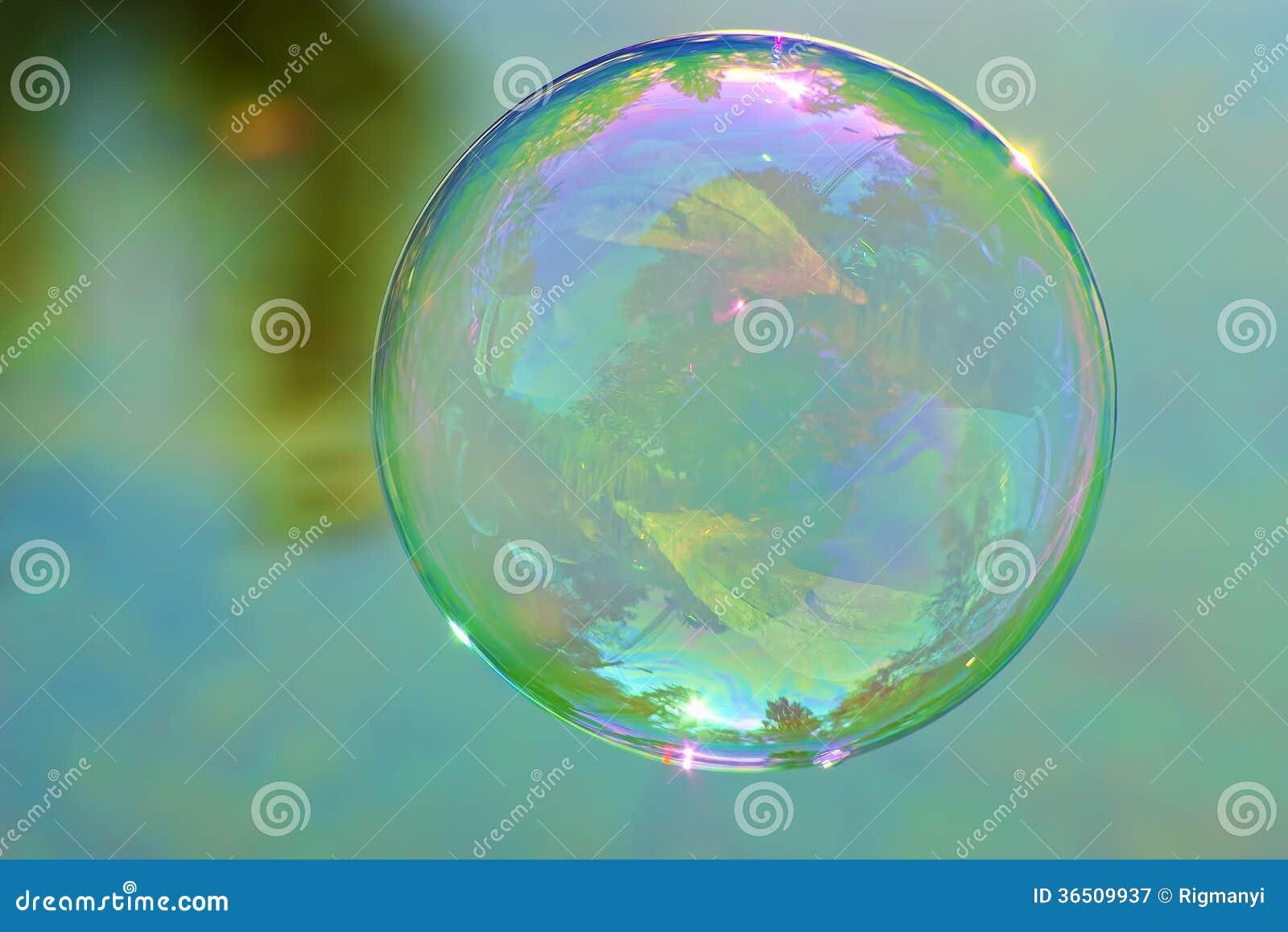 Única bolha de sabão
