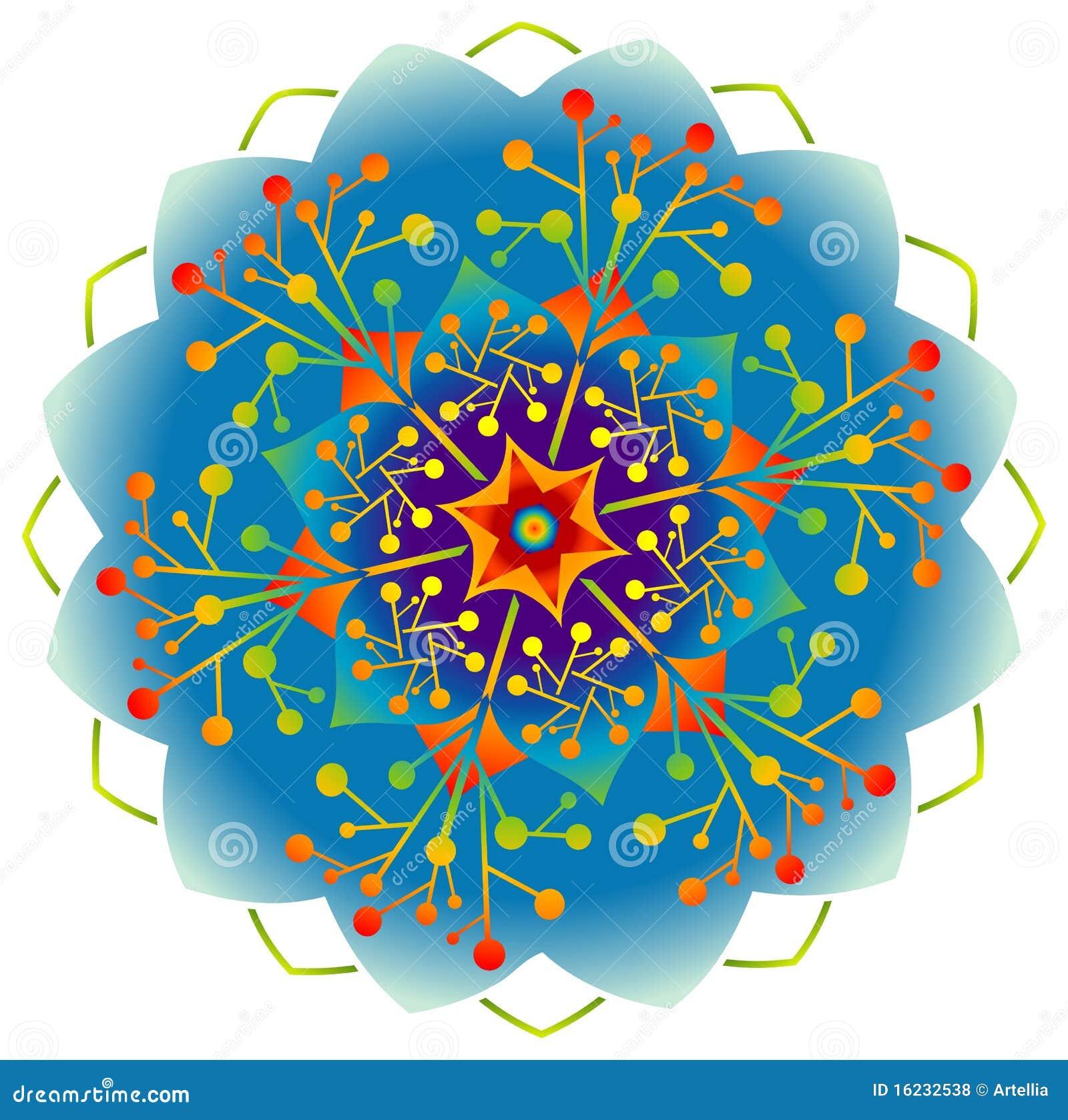 Única mandala - cores do arco-íris