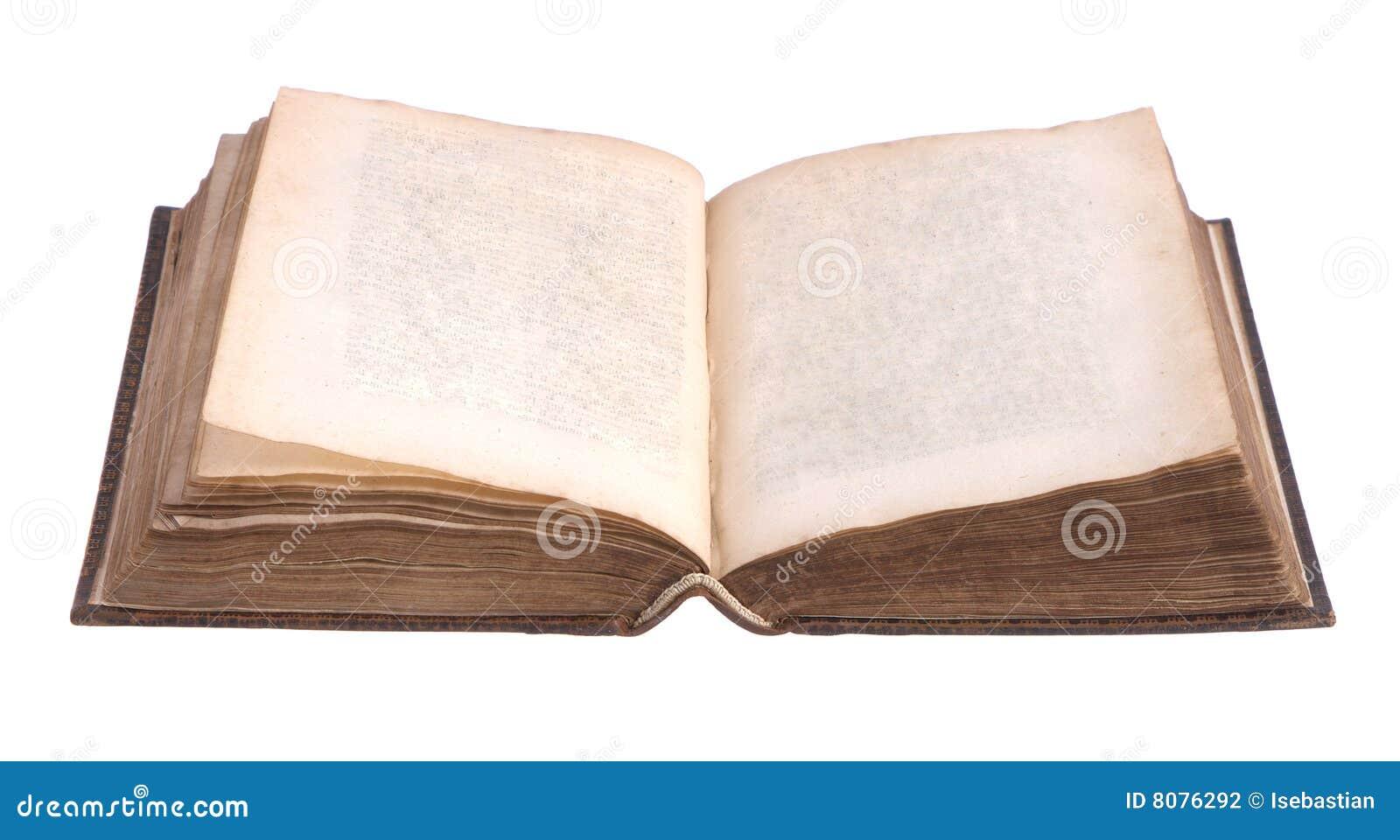 Único livro encadernado de couro velho