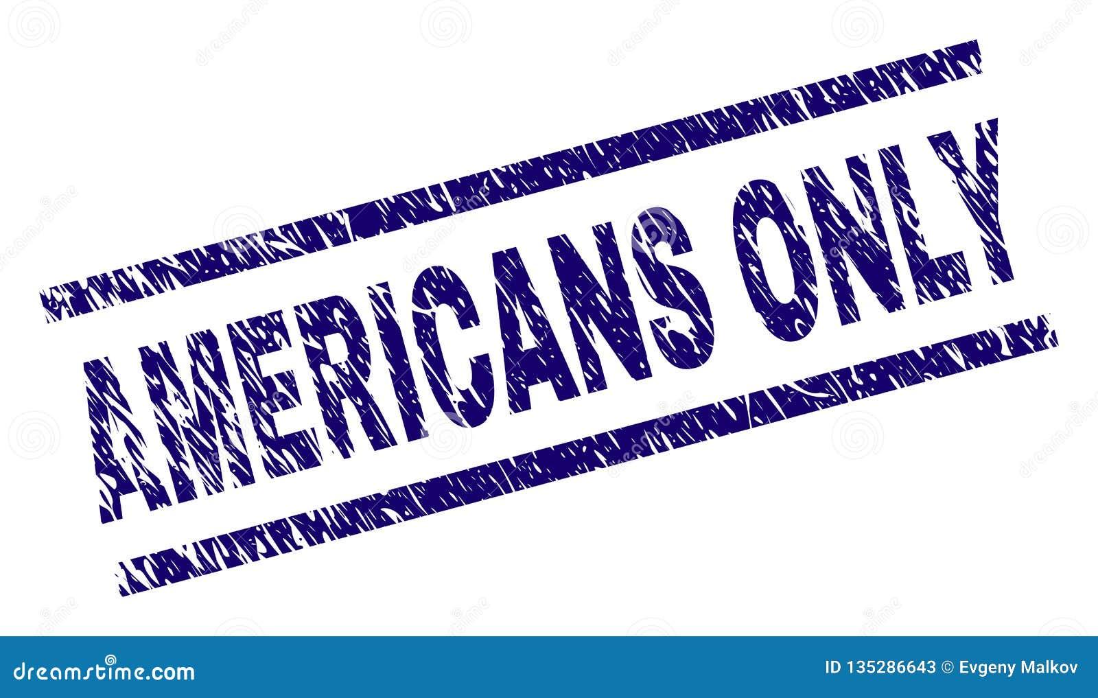 ÚNICO sello texturizado Grunge del sello de los AMERICANOS