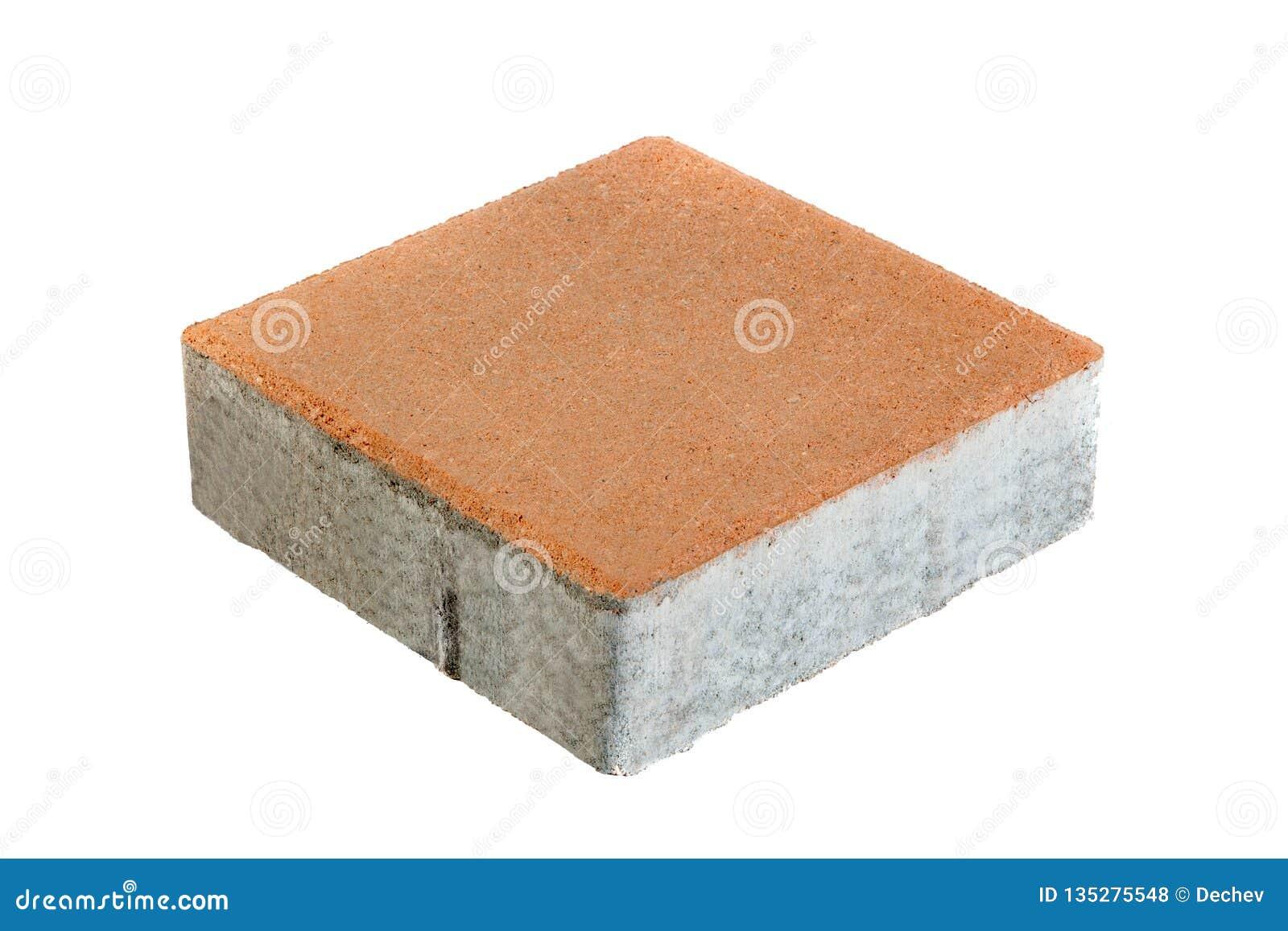 Único tijolo do pavimento, isolado Bloco de cimento para pavimentar