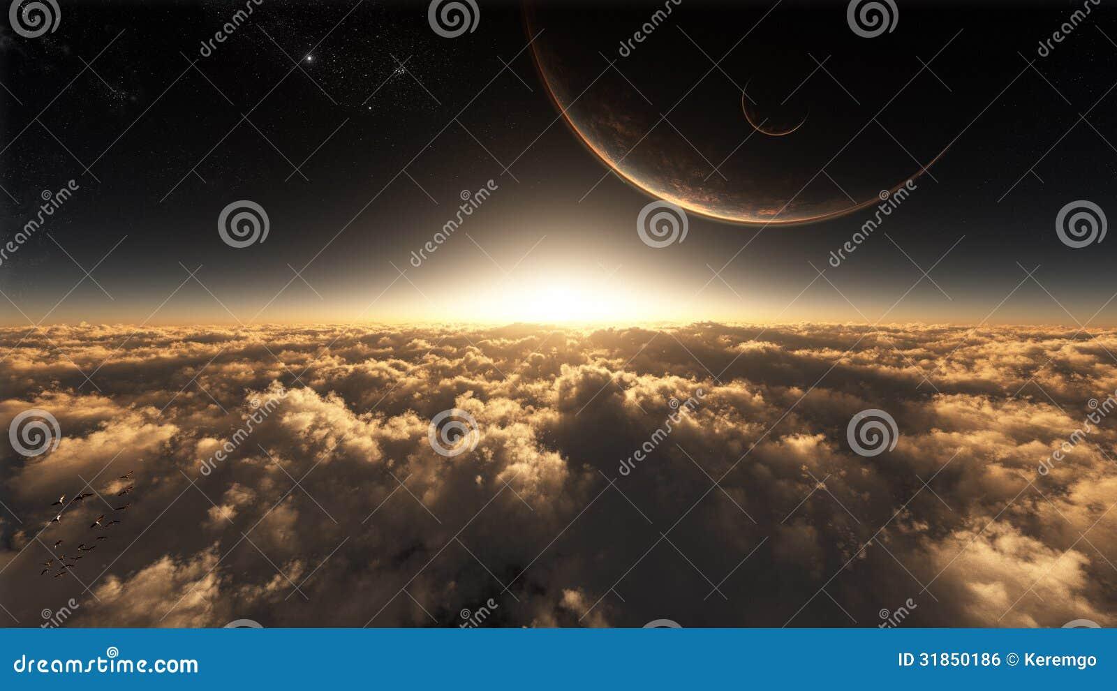 Über den Wolken im Raum