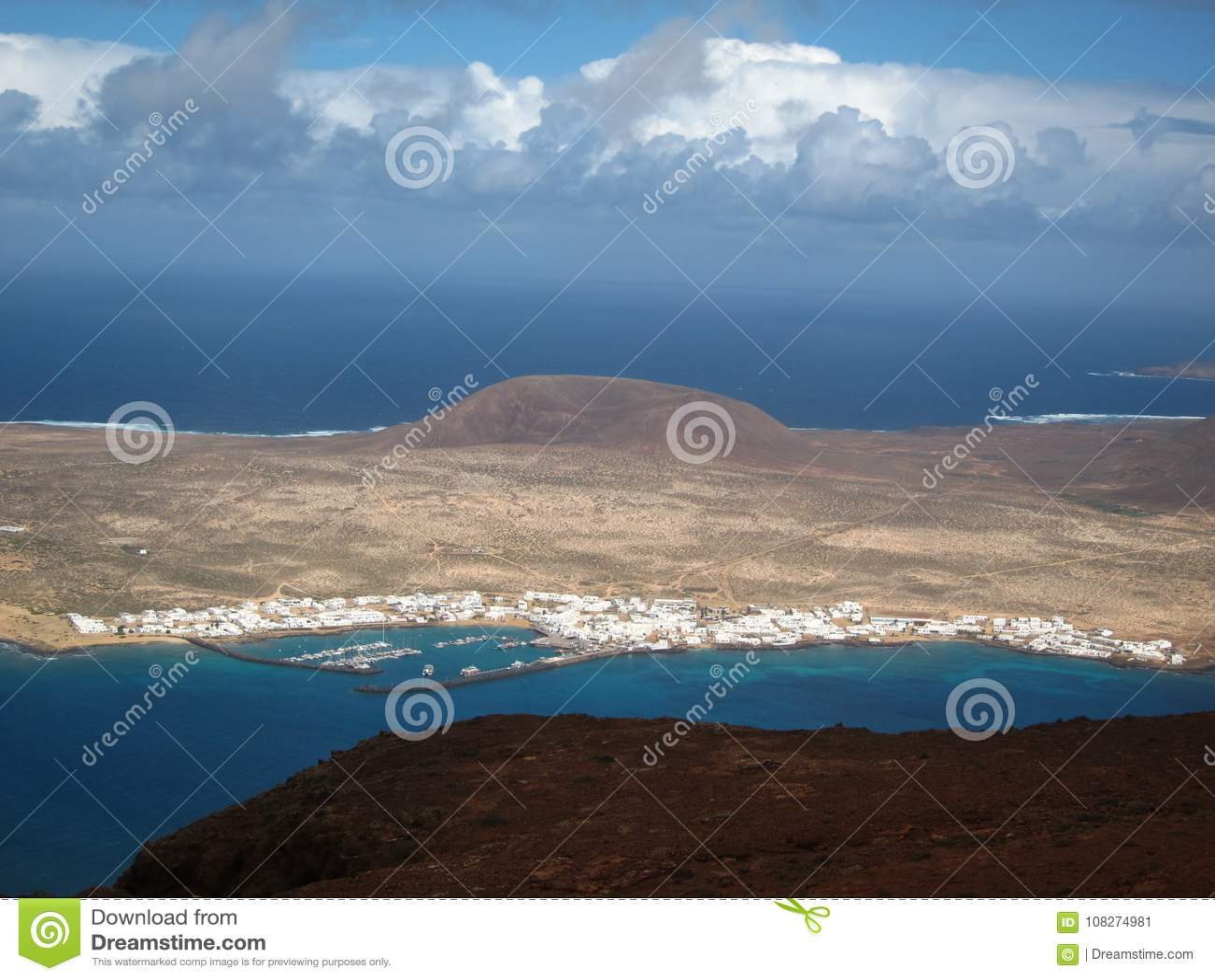 Überblick über die Insel von La Graciosa