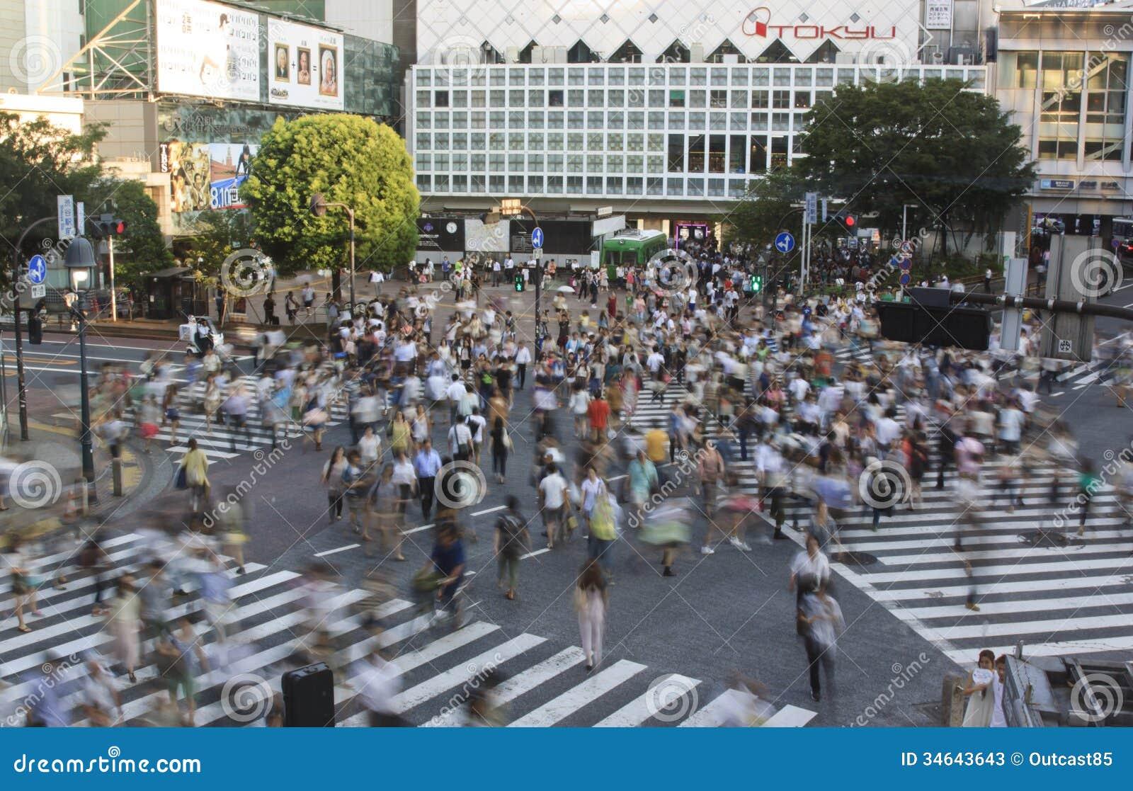 Überfahrt Tokyos Shibuya
