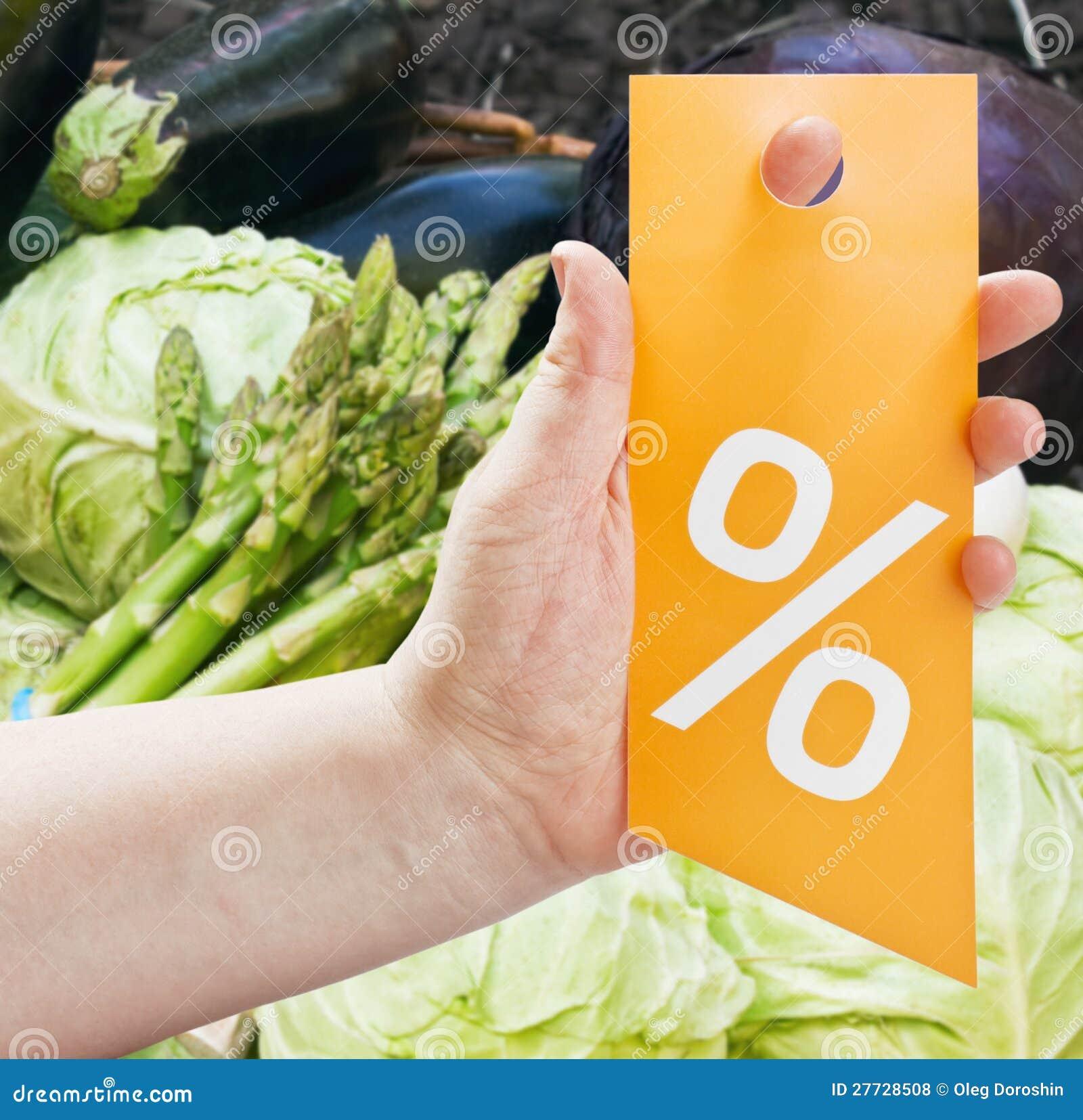 Übergeben Sie das Anhalten einer Karte für Rabatte gegen Produkte