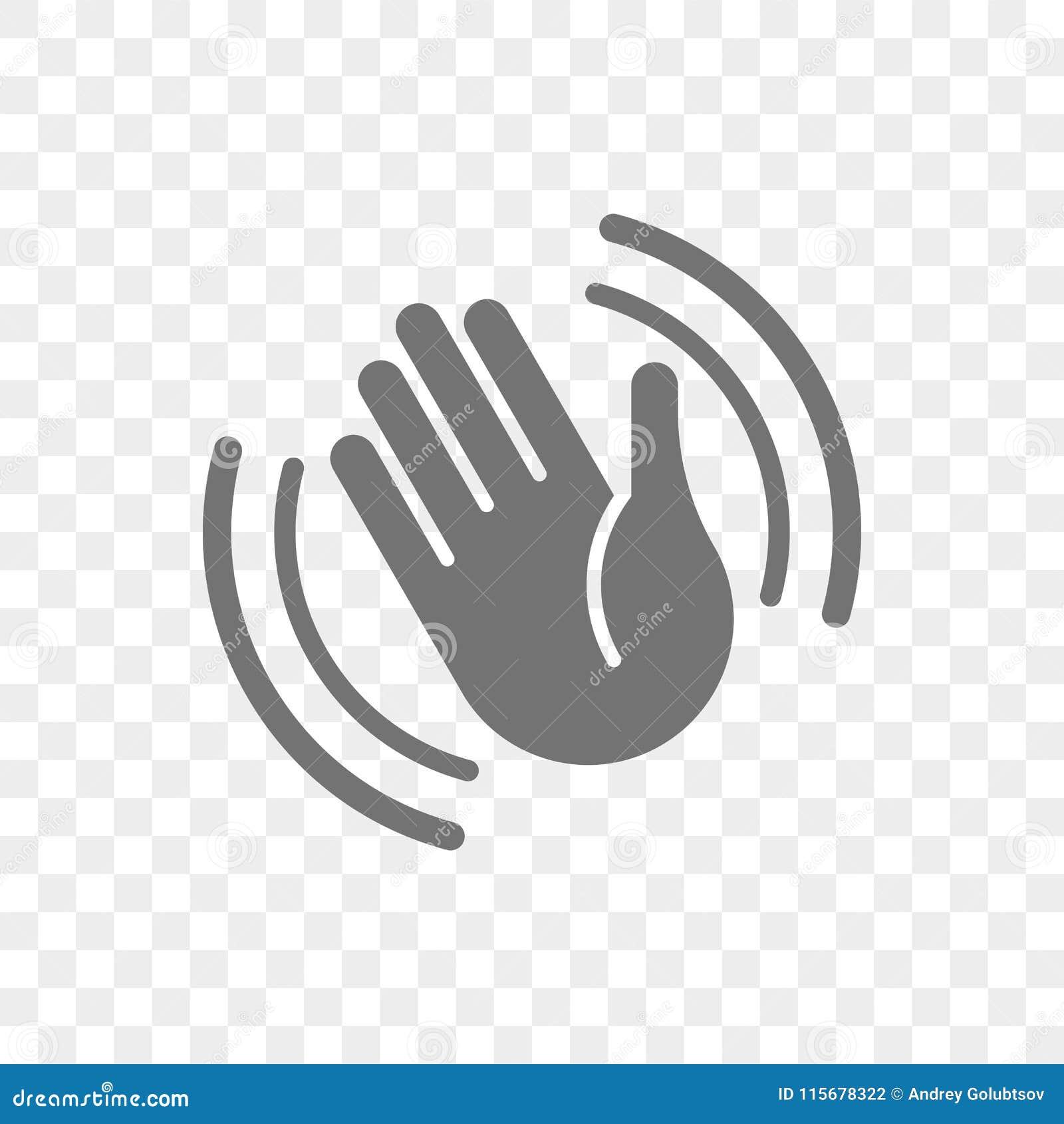 Übergeben Sie Ikone des wellenartig bewegenden Vektors hallo oder Auf Wiedersehen Geste