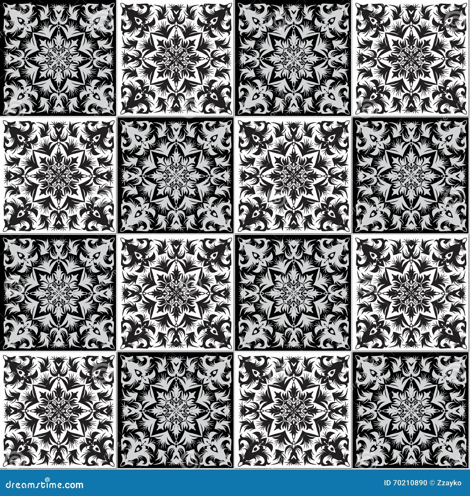 übergeben Sie Zeichnendes Nahtloses Muster Für Fliese In Den