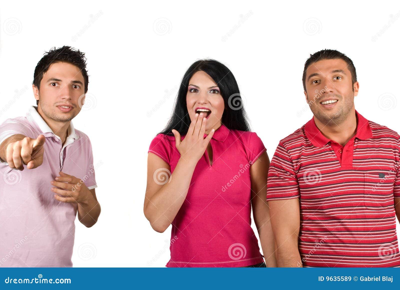 Überraschte Leute