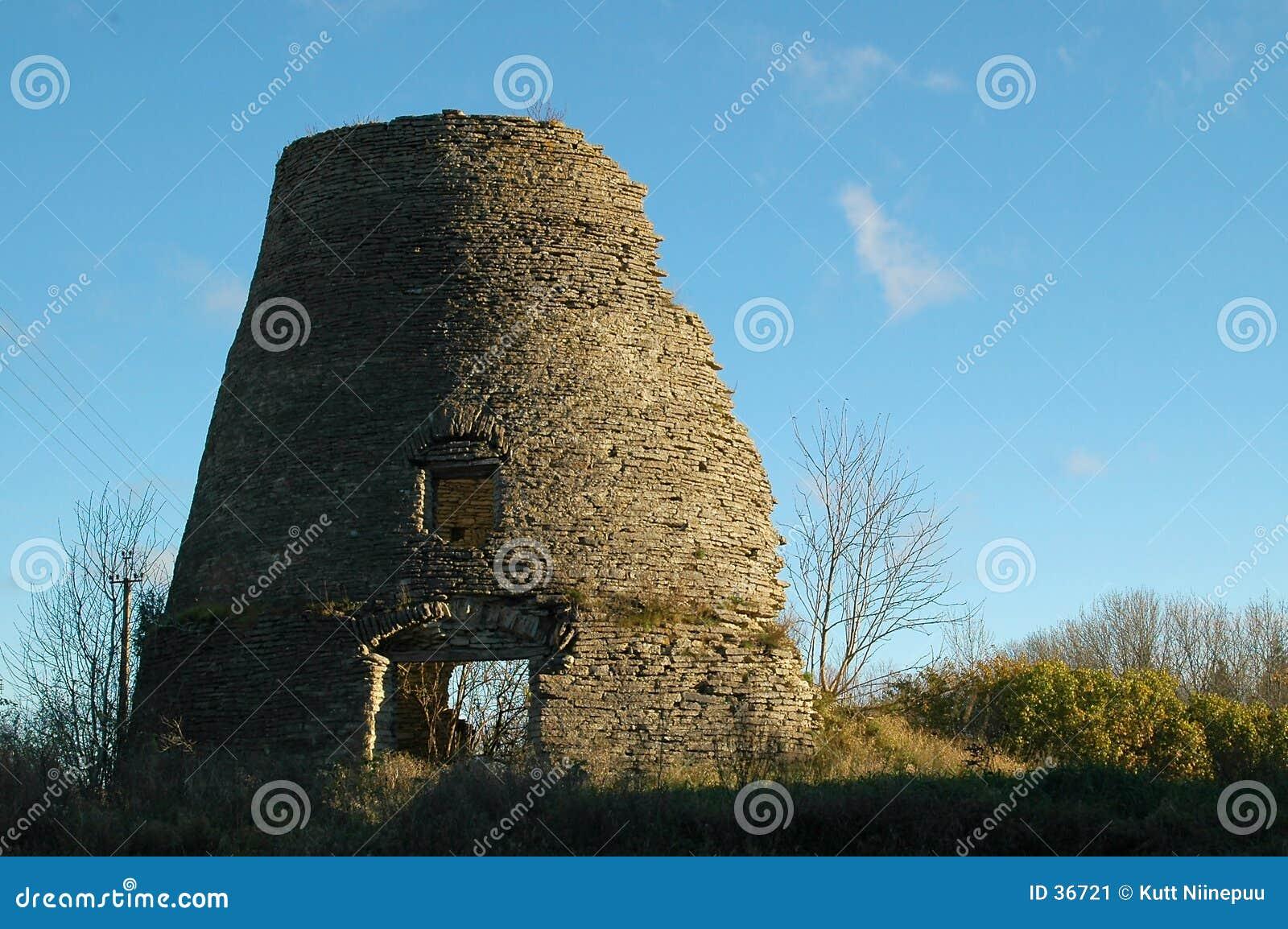 Download Überreste Einer Windmühle 1 Stockbild - Bild von ruinen, gebäude: 36721
