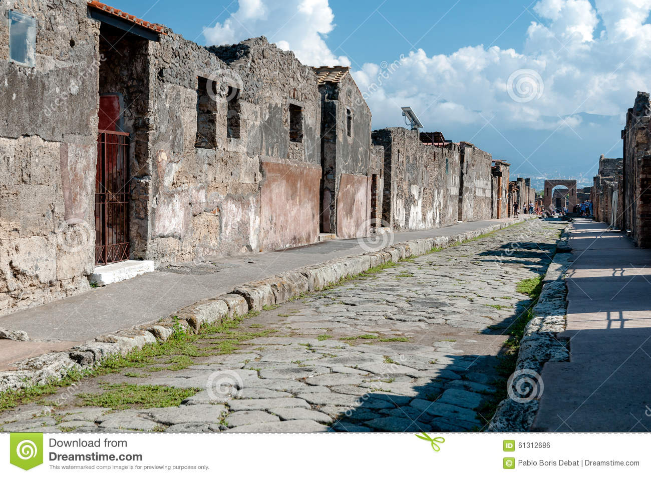 berreste von h usern und stra en in pompeji italien pompeji war dest stockfoto bild 61312686. Black Bedroom Furniture Sets. Home Design Ideas