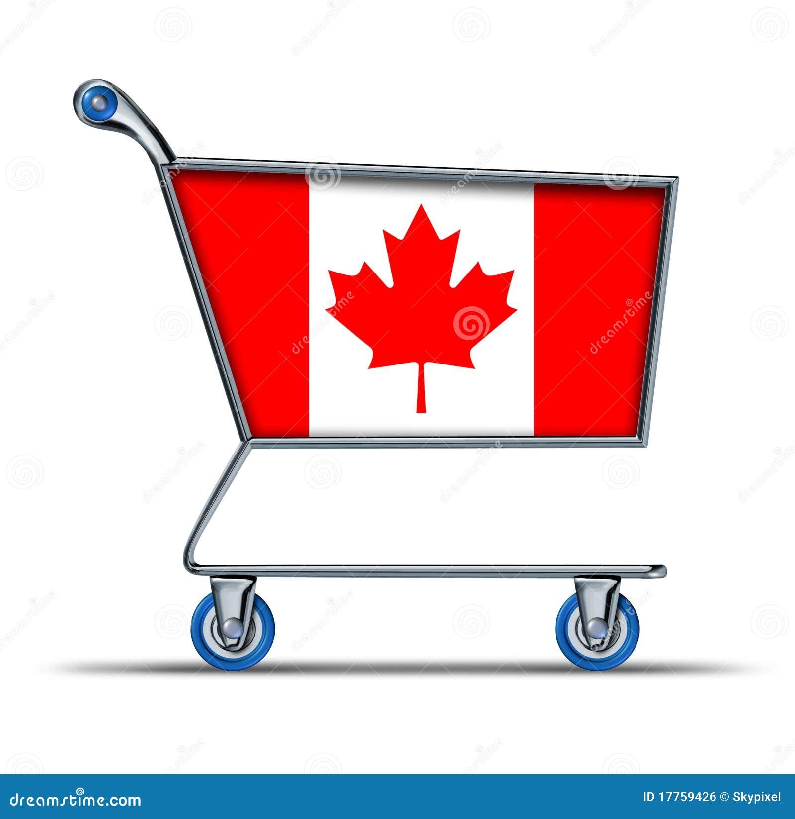 : überschüssiger defizit-einkaufswagen des kanada-geschäftsmarktes