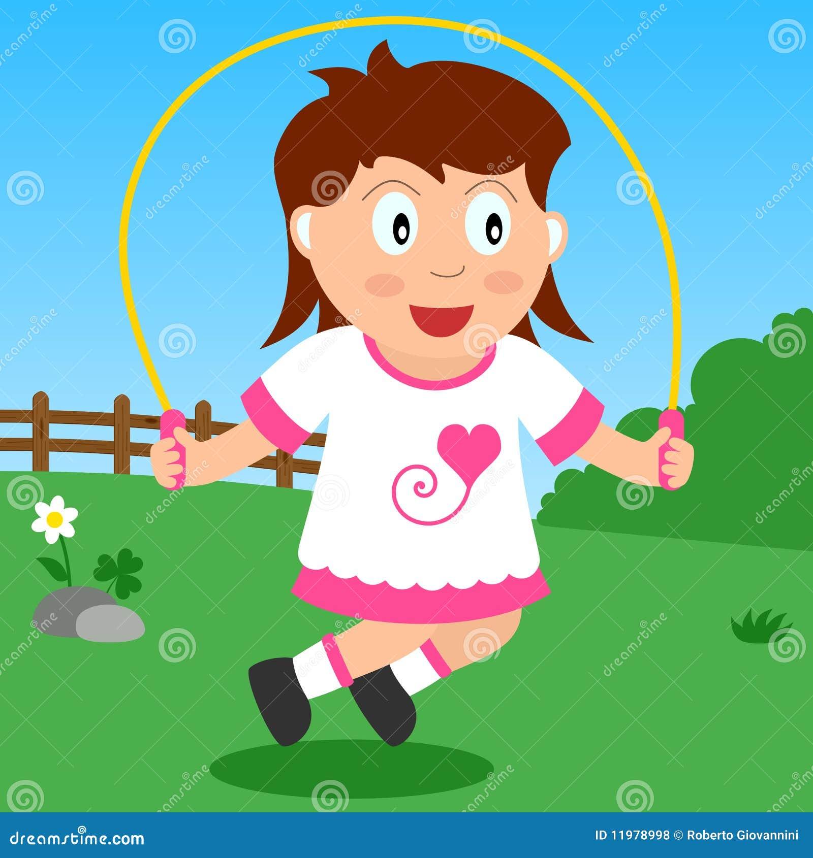 Überspringendes Mädchen im Park