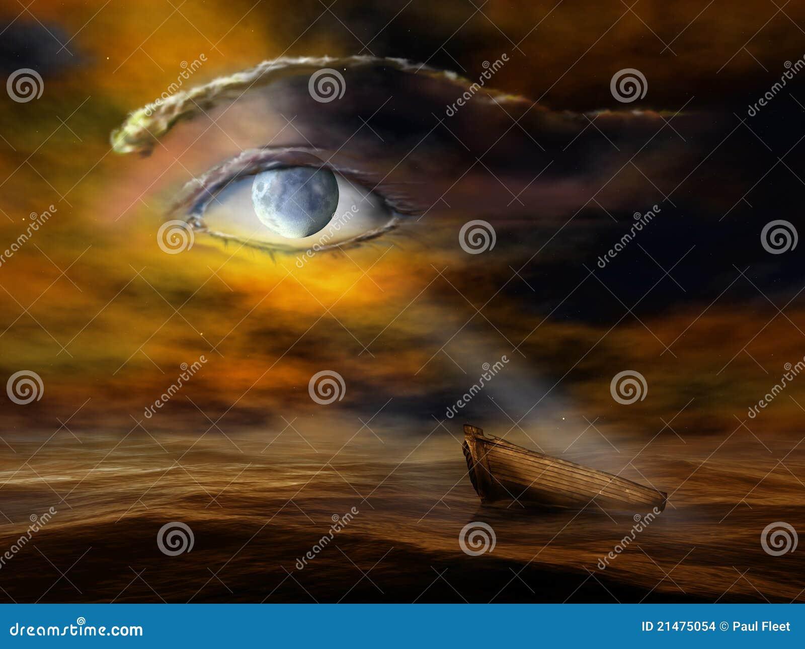 Überwachen des Mondes, über mir zu überwachen