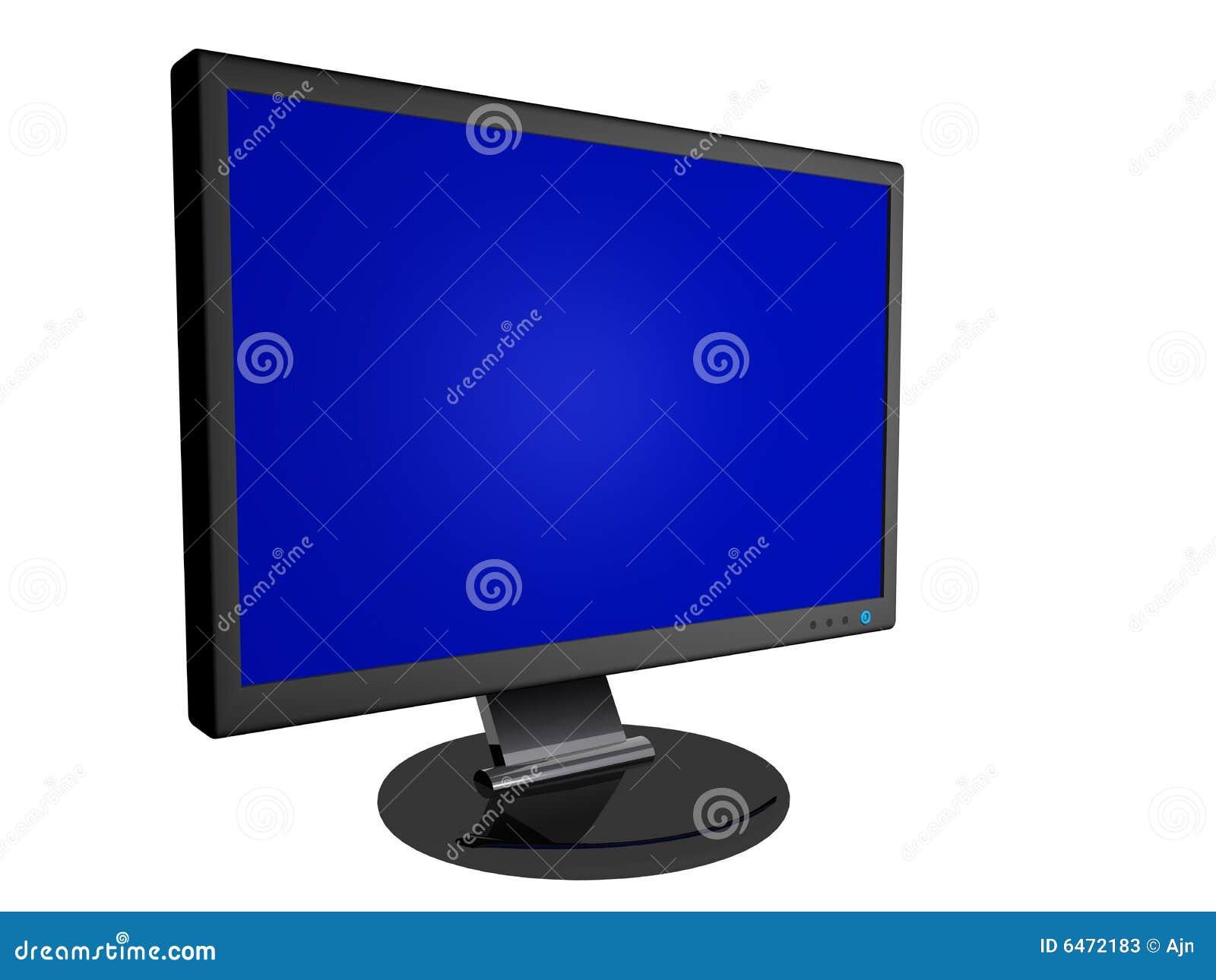 Überwachungsgerät mit unbelegtem Bildschirm