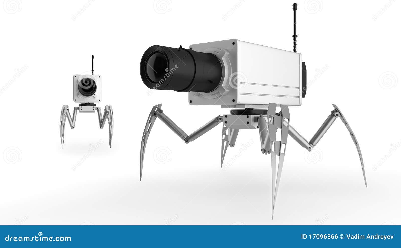 Überwachungskamera auf den Fahrwerkbeinen