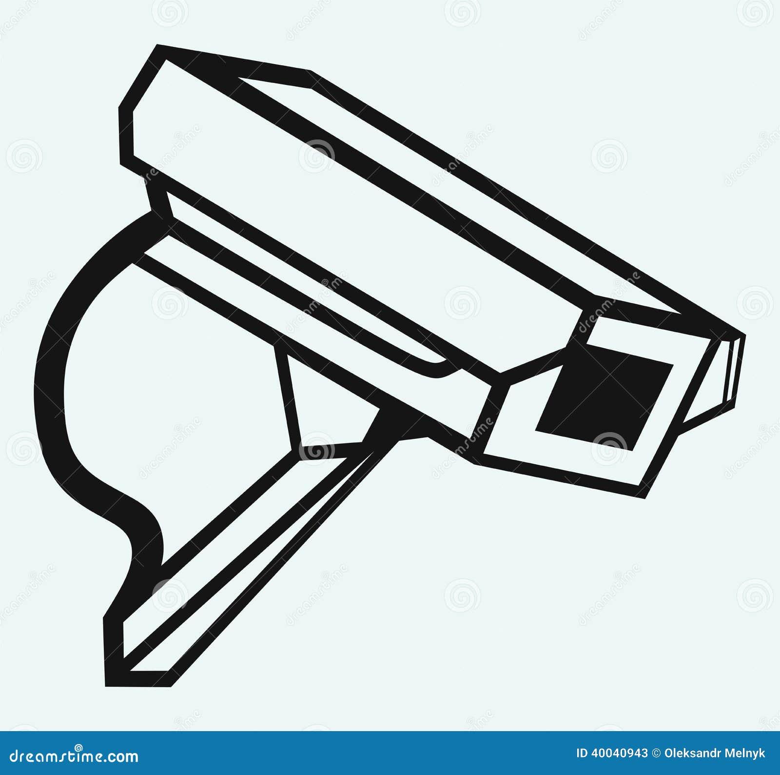 berwachungskamera im freien vektor abbildung bild 40040943. Black Bedroom Furniture Sets. Home Design Ideas