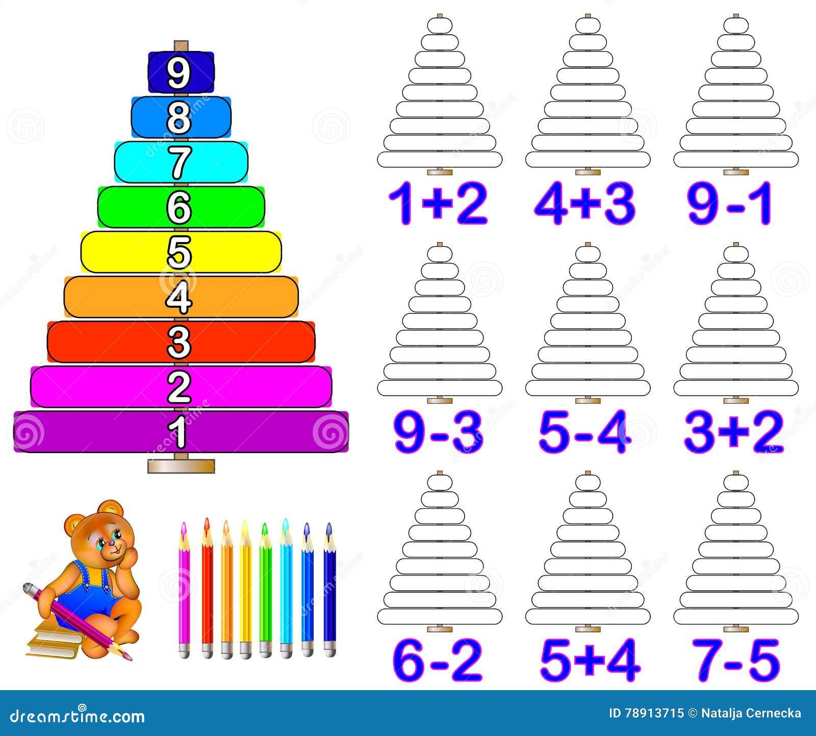 Übungen Für Kinder - Müssen Sie Beispiele Lösen Und Die ...