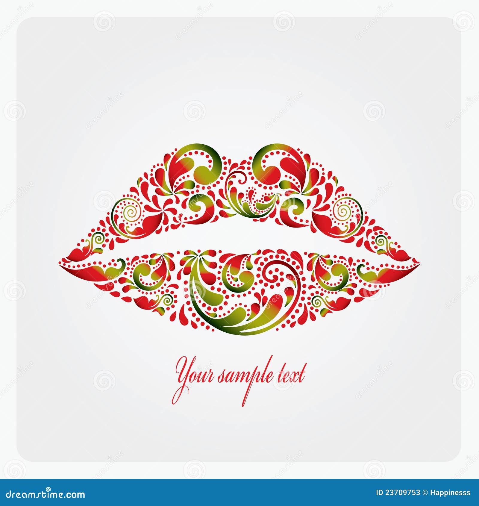 Üppige Lippen.