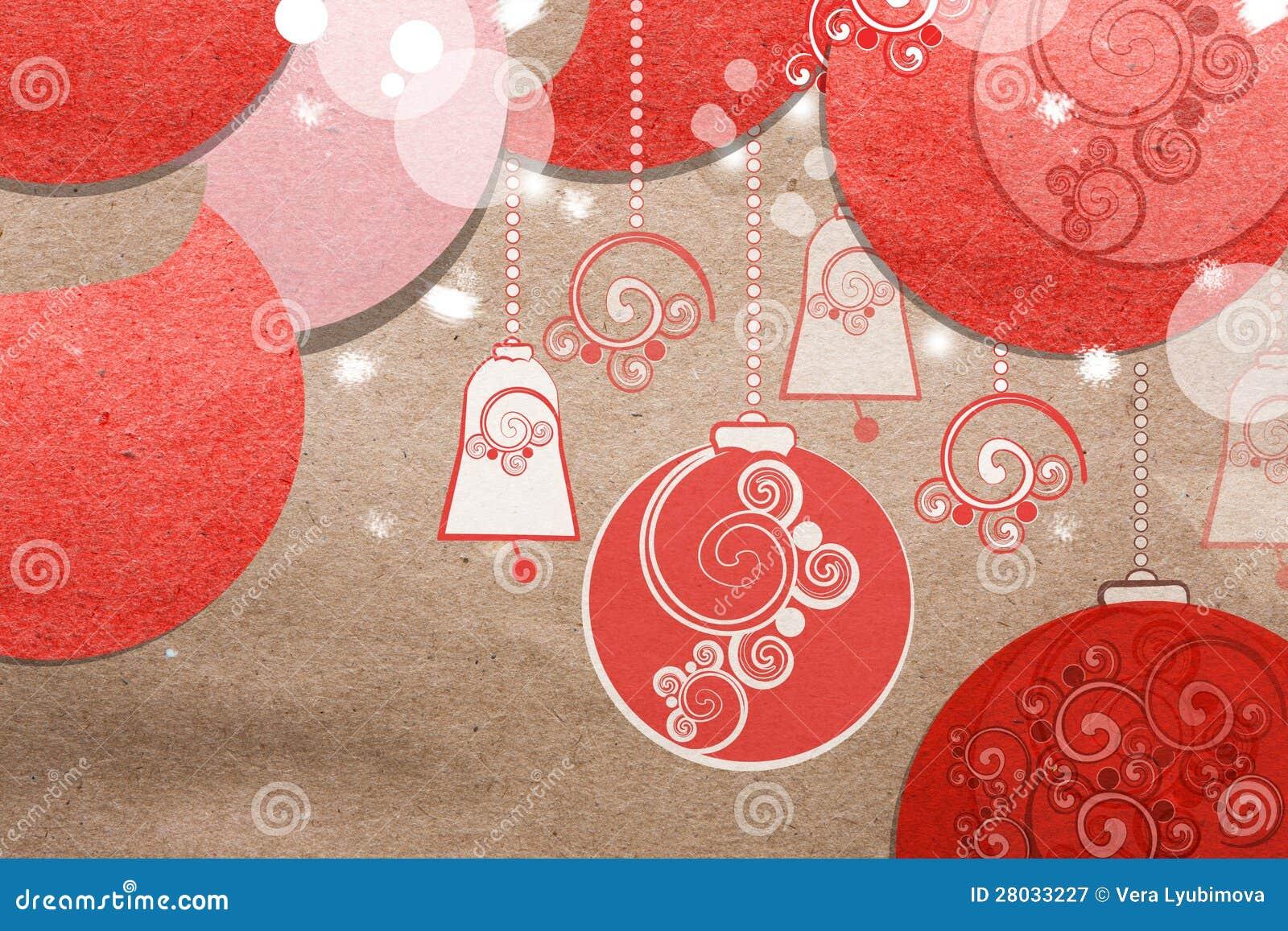 美好的纸圣诞节拼贴画