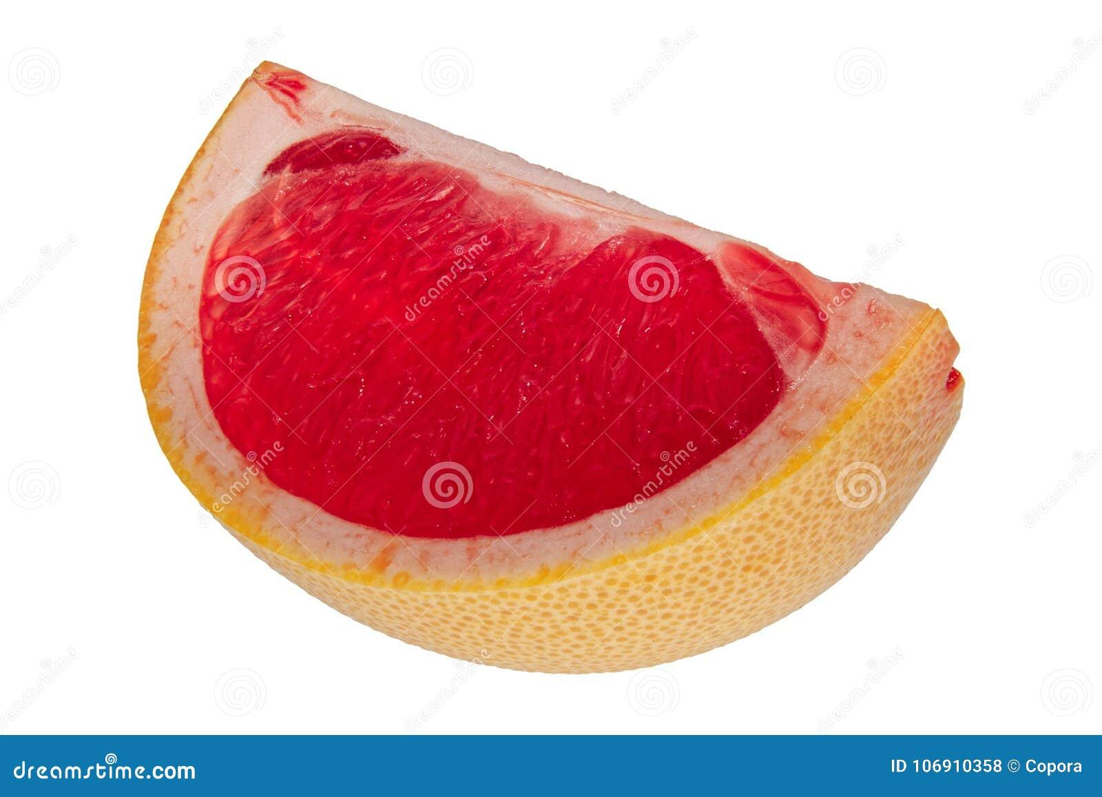 Ćwiartka grapefruitowy na białym tle