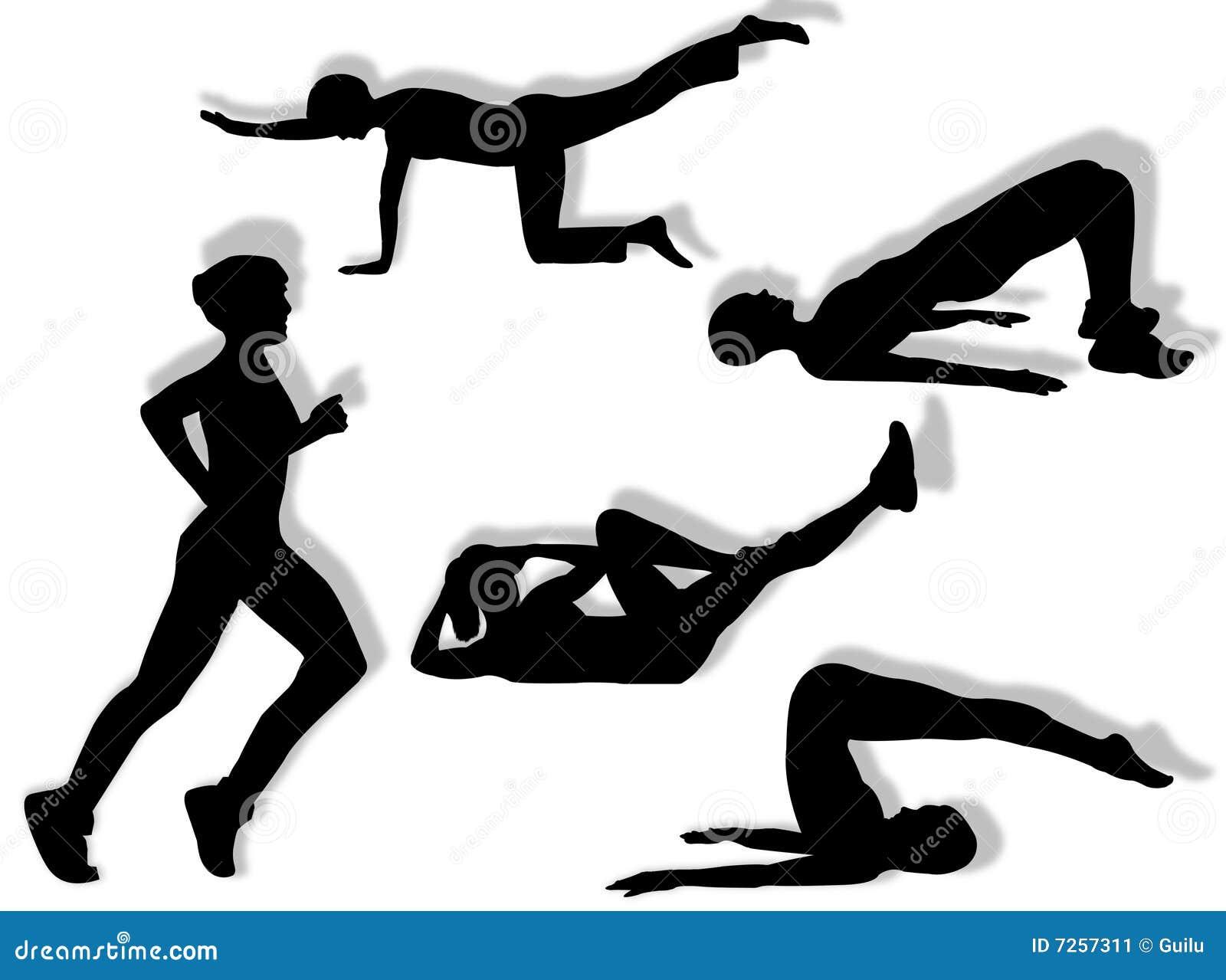 ćwiczy sprawność fizyczną