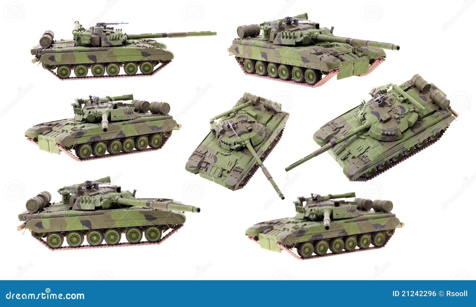 模型坦克 免版税库存图片