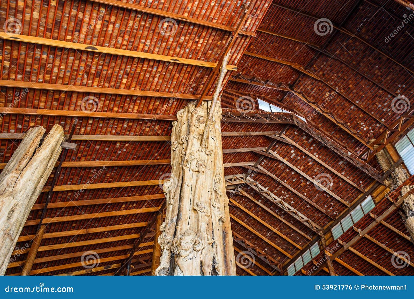 木屋顶结构 库存照片