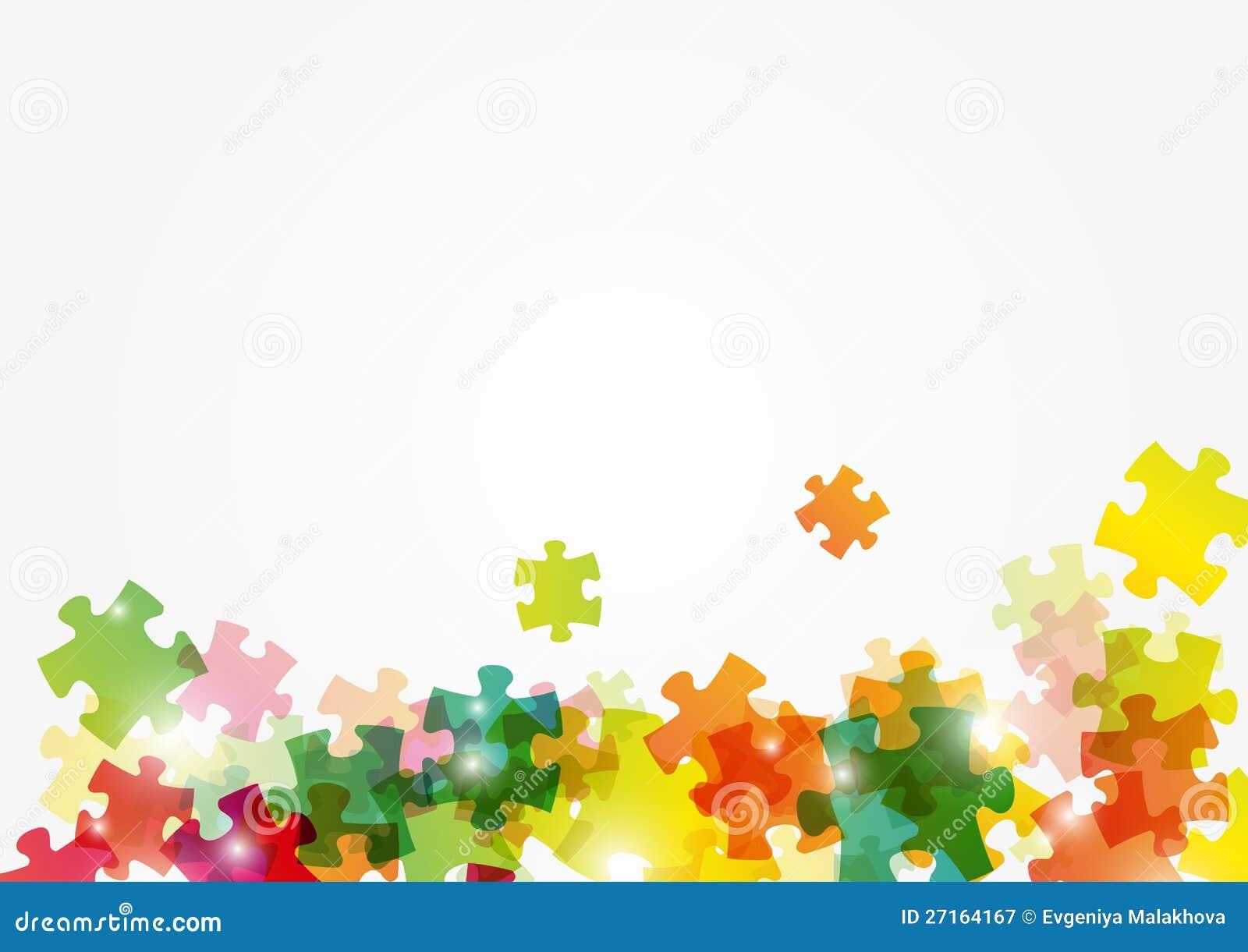 难题与安排的颜色背景文本的. 难题颜色背景 免版税图库摄影