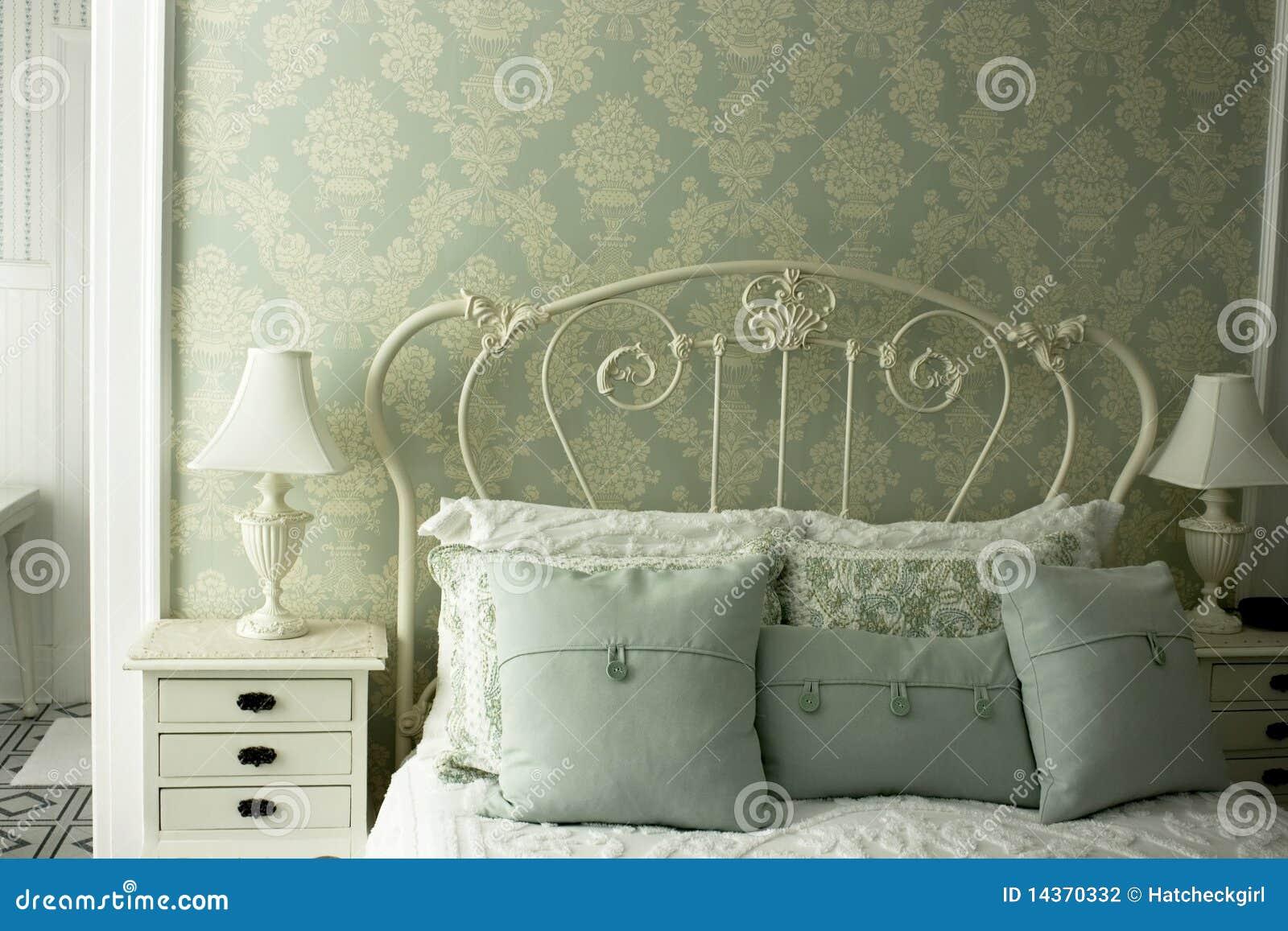 łóżkowy śniadania zieleni austerii pokój