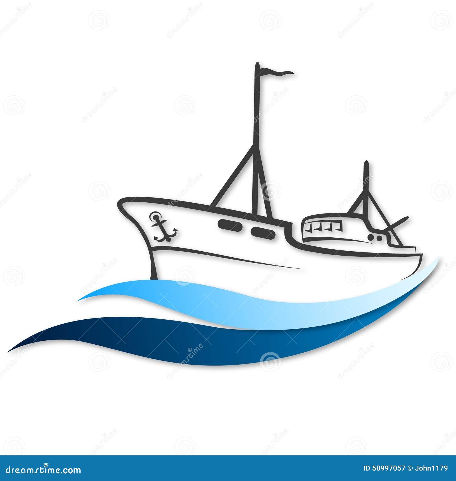 Łódź rybacka wektor