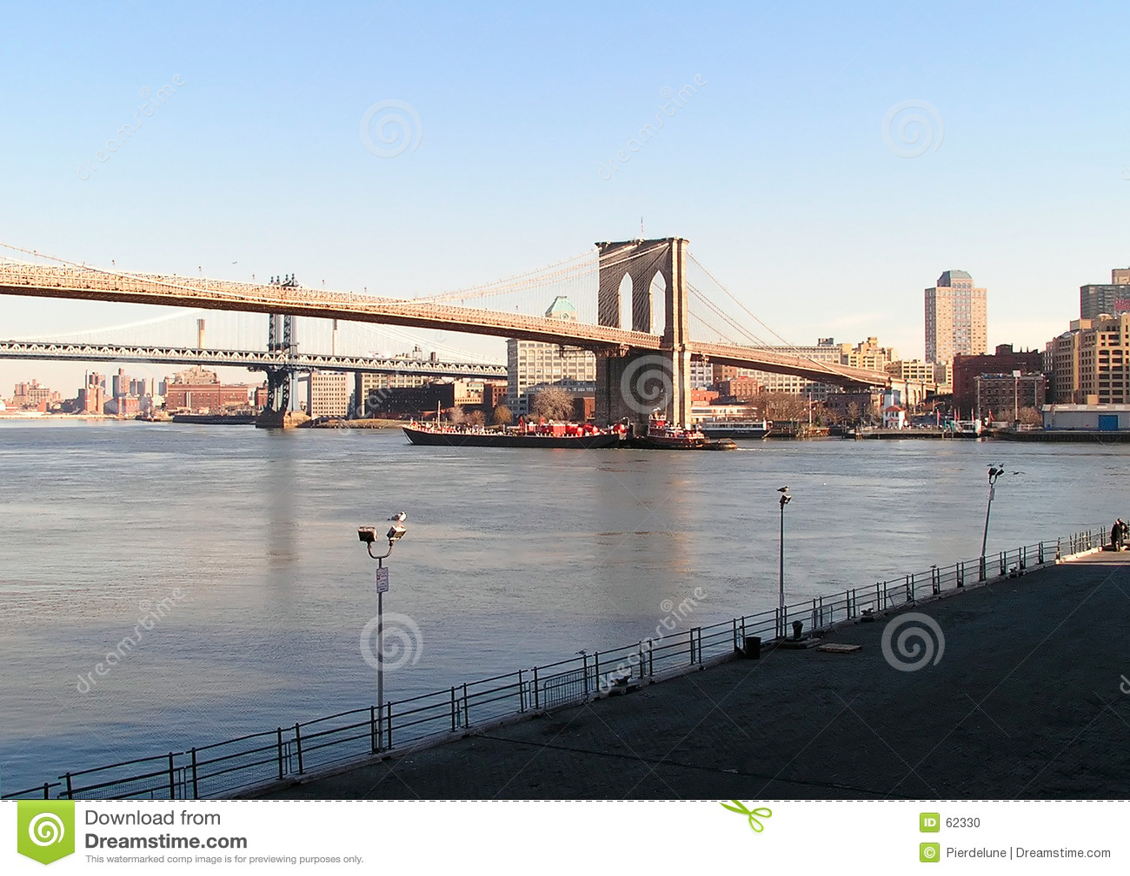 łódka Brooklyn bridge