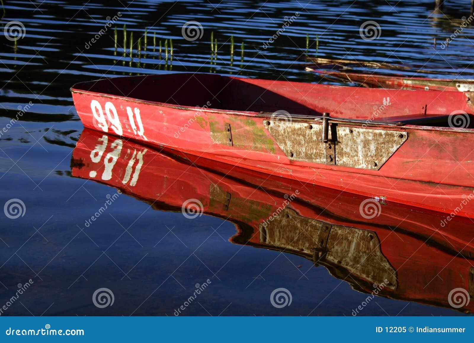 łódka odbicia