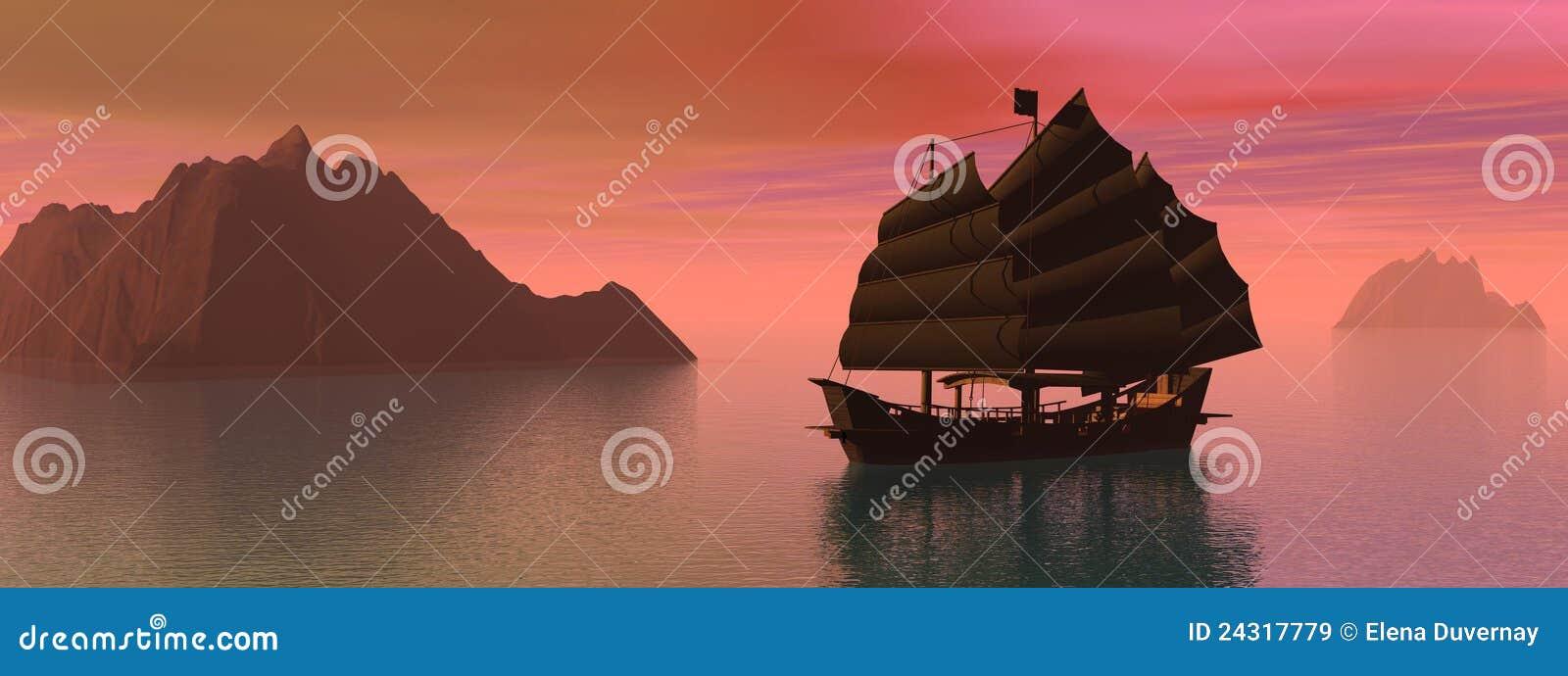 łódkowata dżonka Oriental
