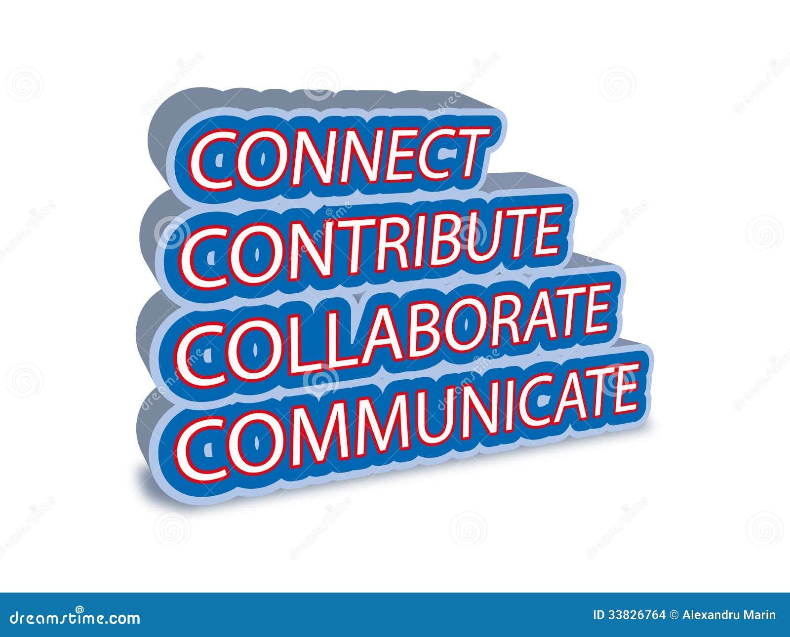 Łączę kolaboruje komunikuje przyczynia się