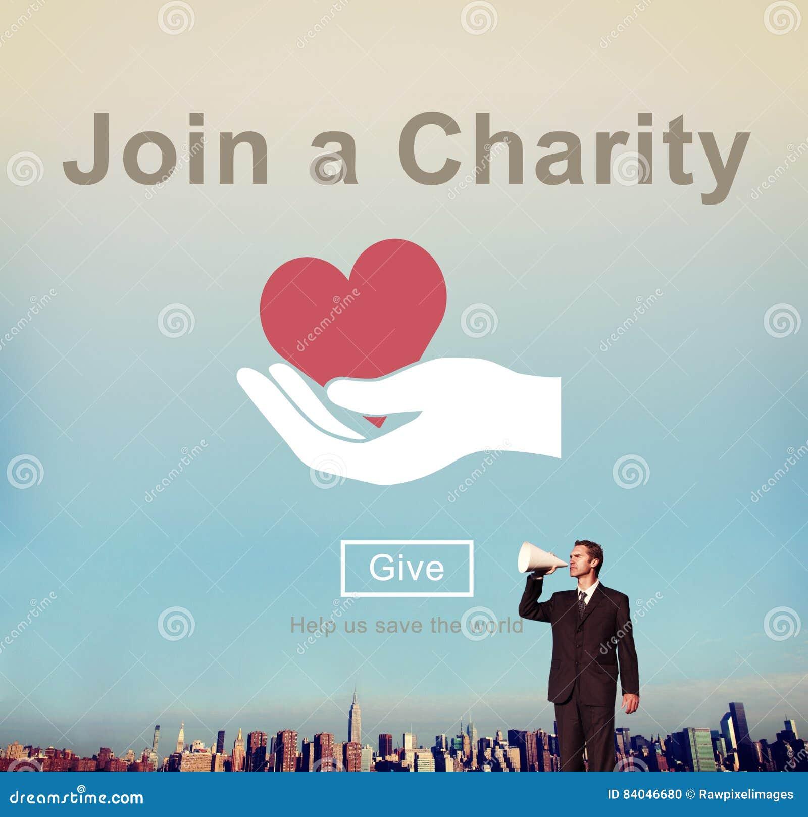 Łączy dobroczynności pomocy zaproszenia opieki miłości pojęcie