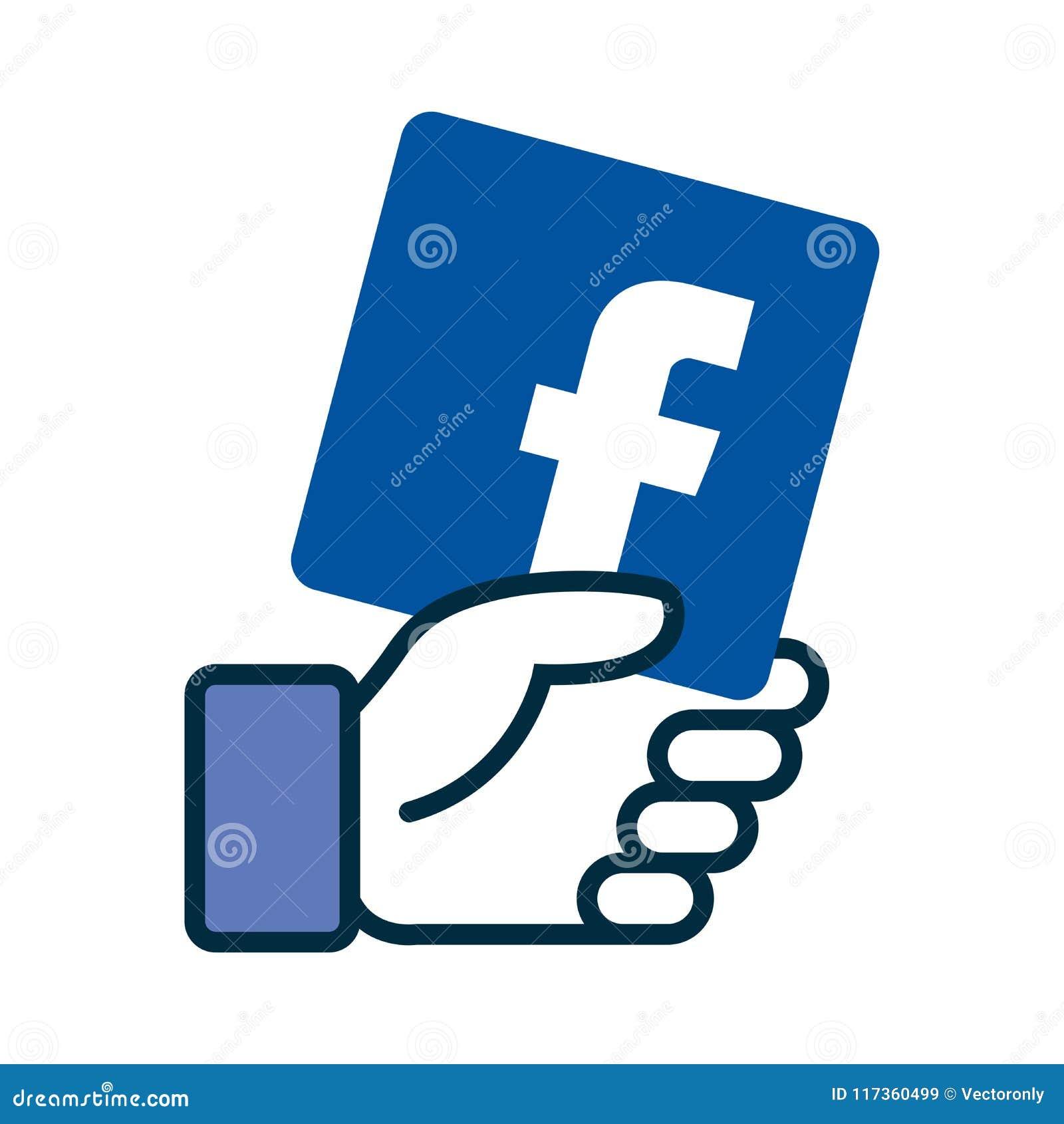 Łączy my na facebook ikonie