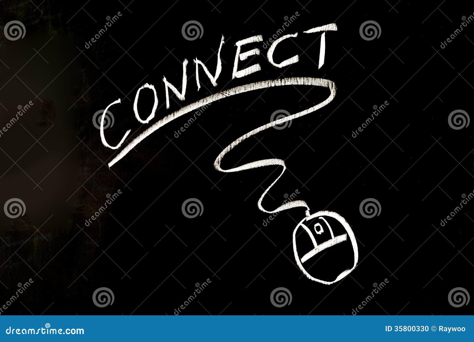 Łączy słowo i mysz symbol